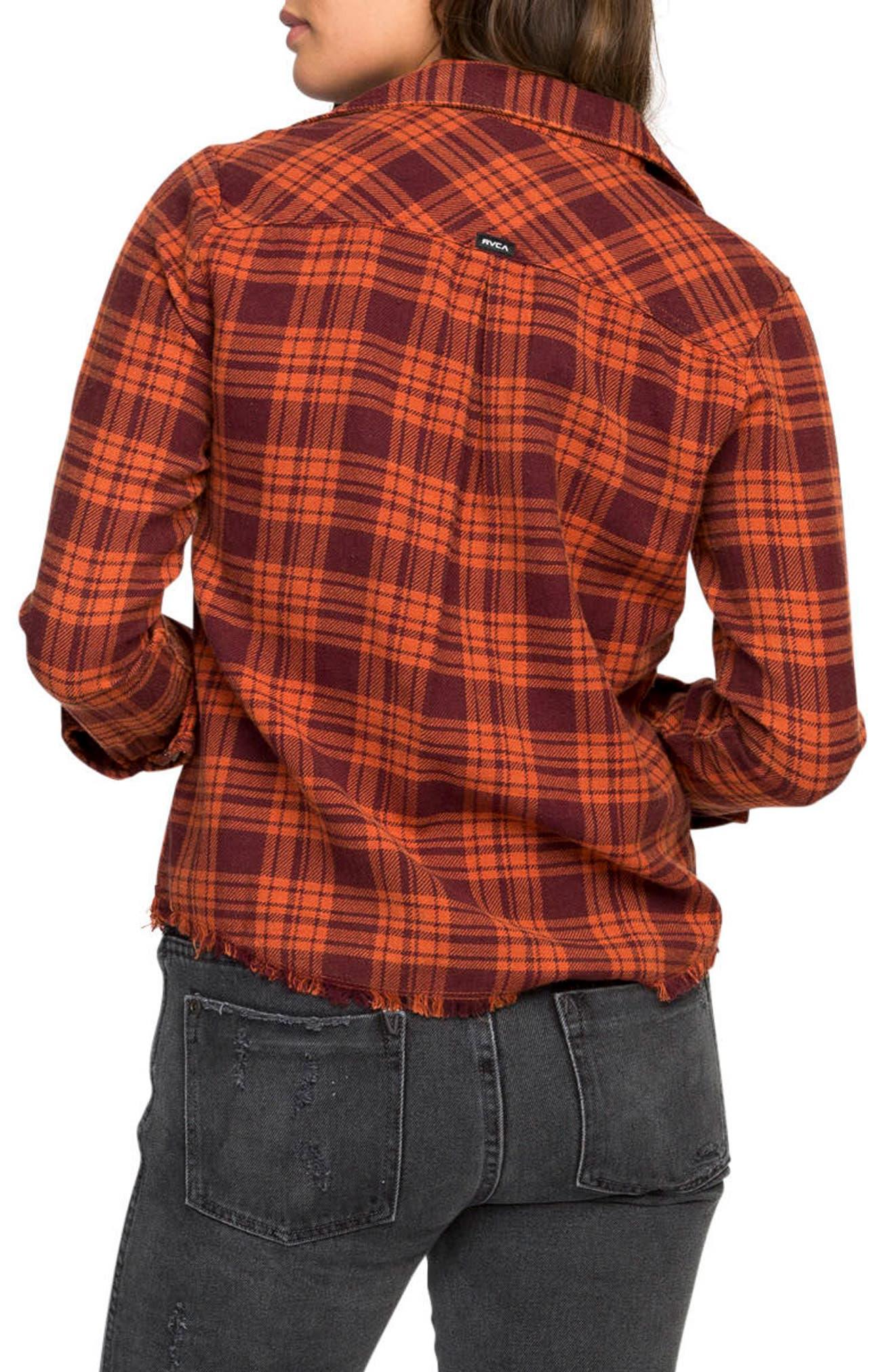 Alternate Image 2  - RVCA In a Haze Plaid Cotton Shirt