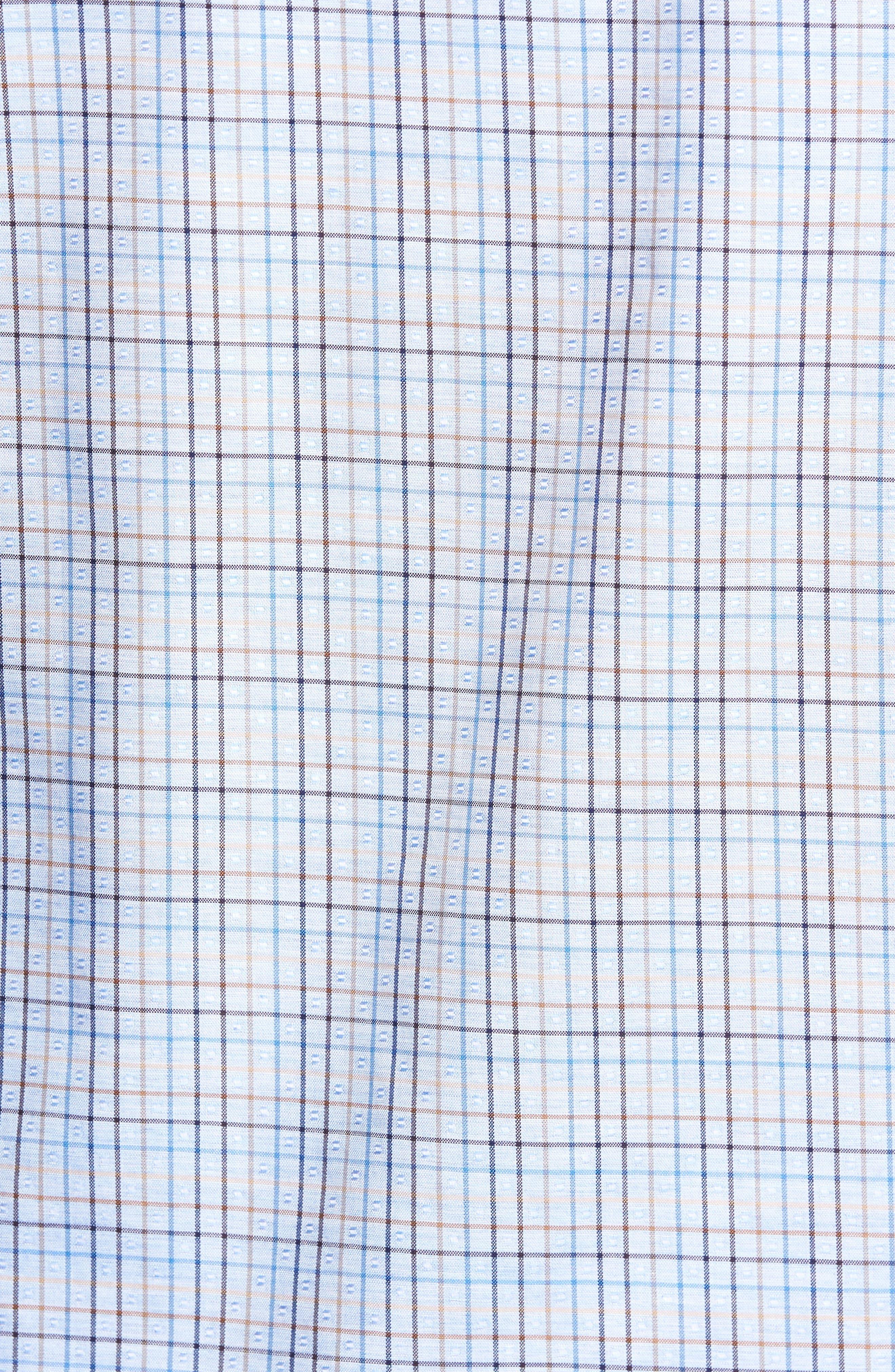 Alternate Image 5  - Bugatchi Classic Fit Dobby Grid Plaid Sport Shirt