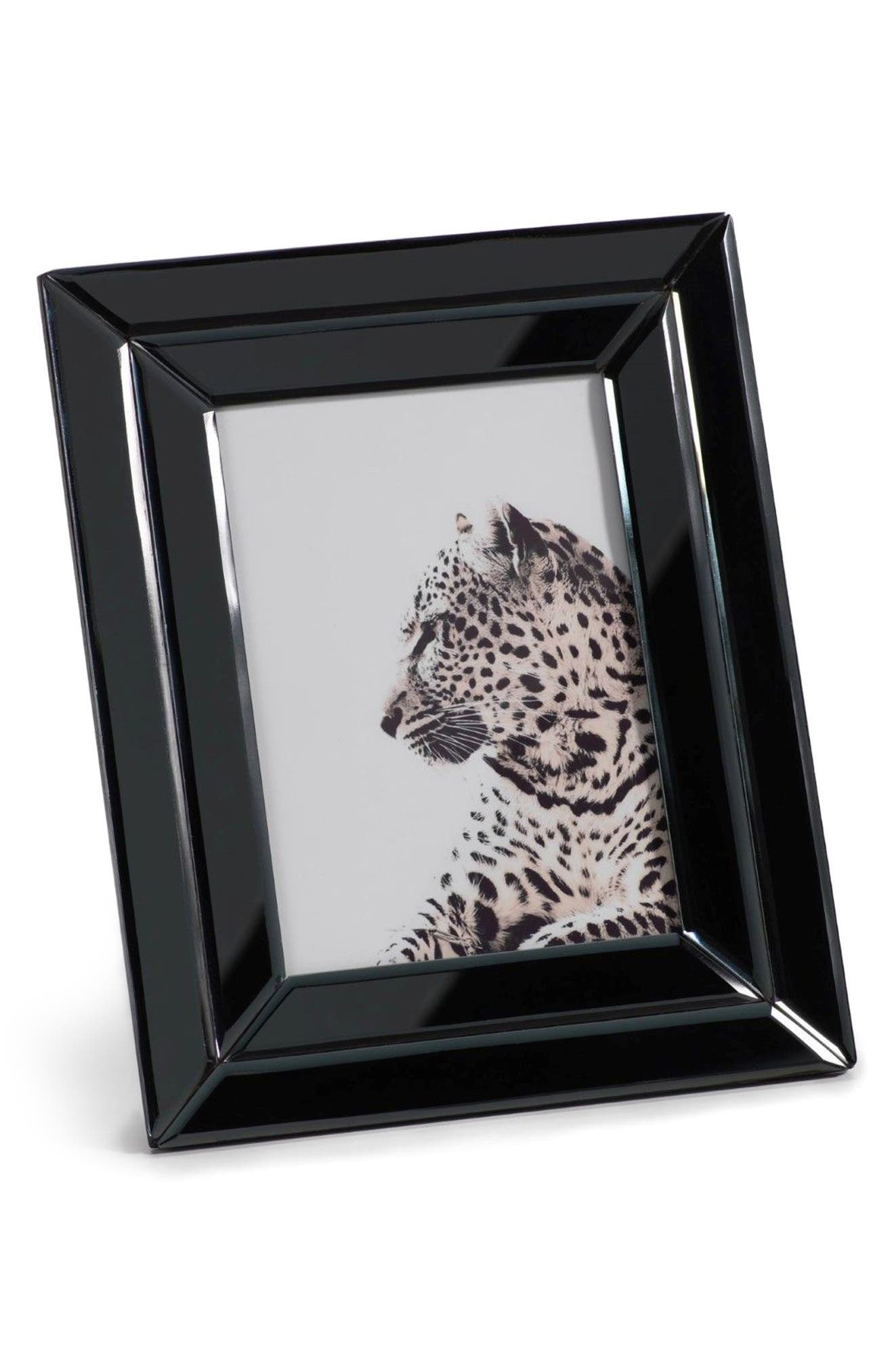 Smoke Glass Picture Frame,                             Main thumbnail 1, color,                             Black