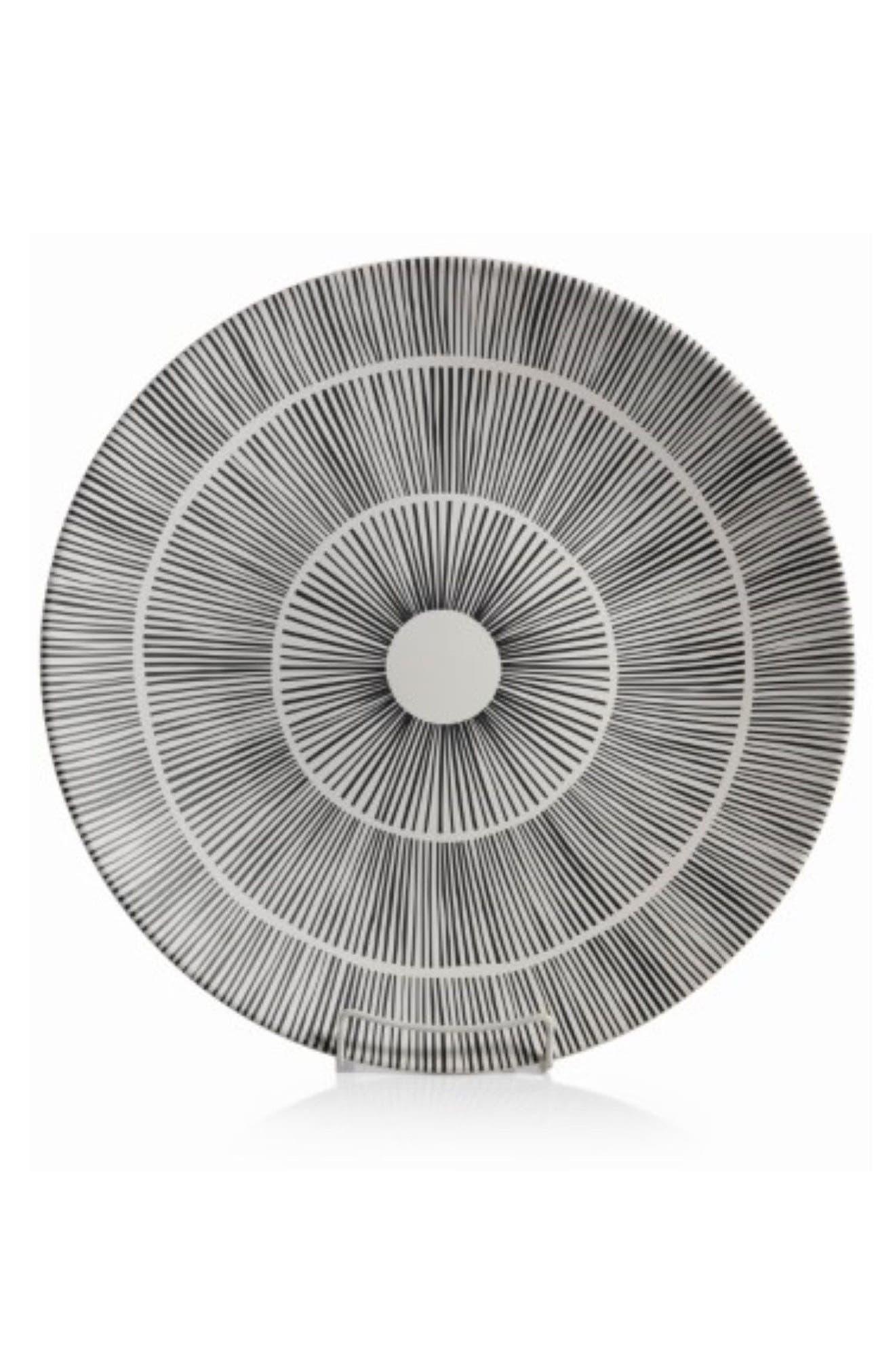 Marquesa Ceramic Platter,                         Main,                         color, White