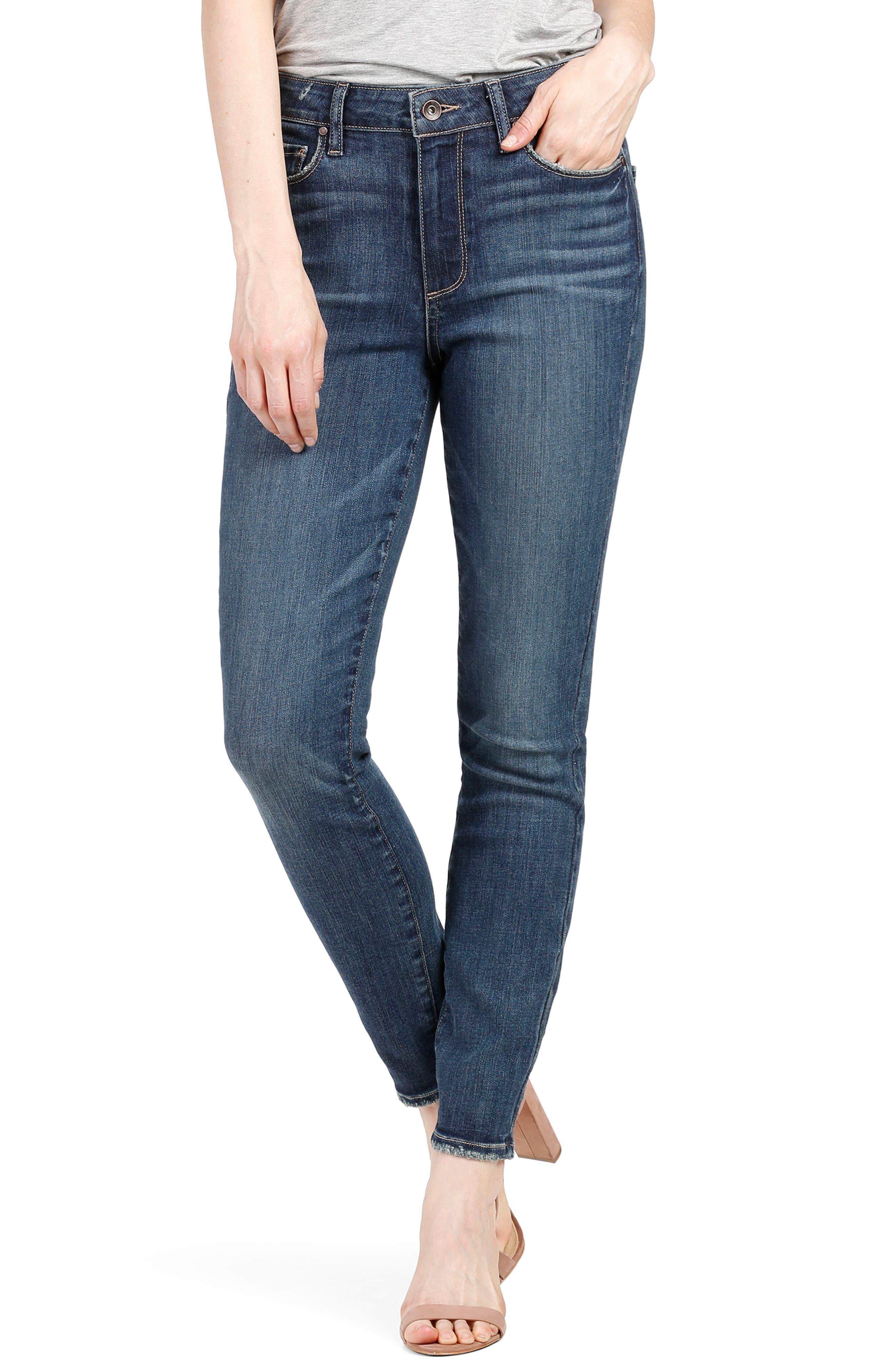 cfb2d5b648911 Paige Transcend Vintage - Hoxton High Waist Ankle Skinny Jeans In Emilio