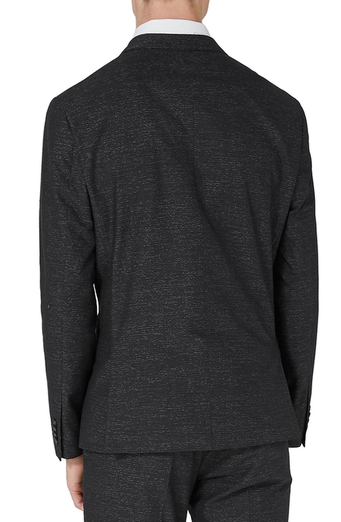 Alternate Image 3  - Topman Skinny Fit Stripe Suit Jacket