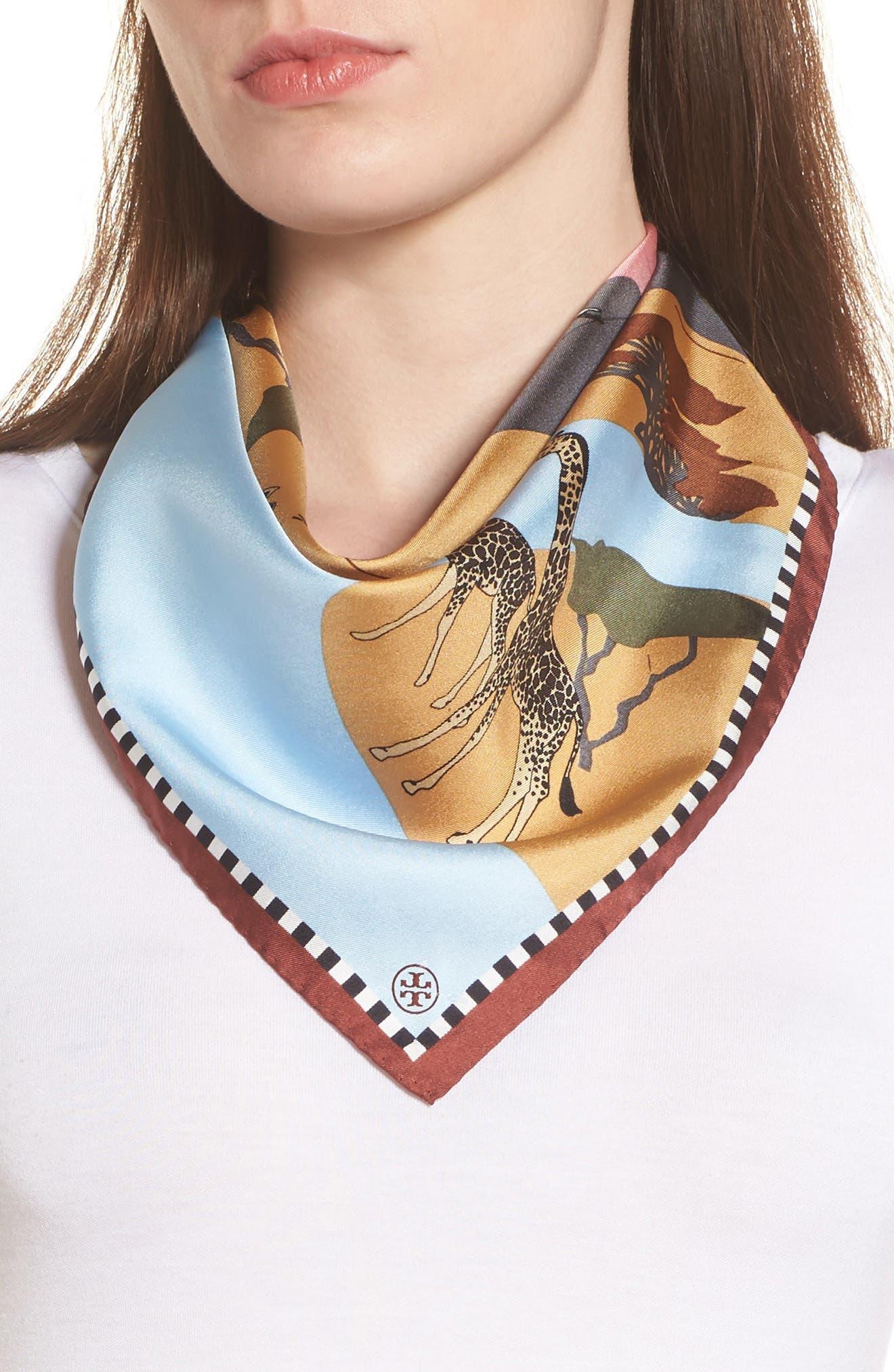 Main Image - Tory Burch Safari Silk Neckerchief