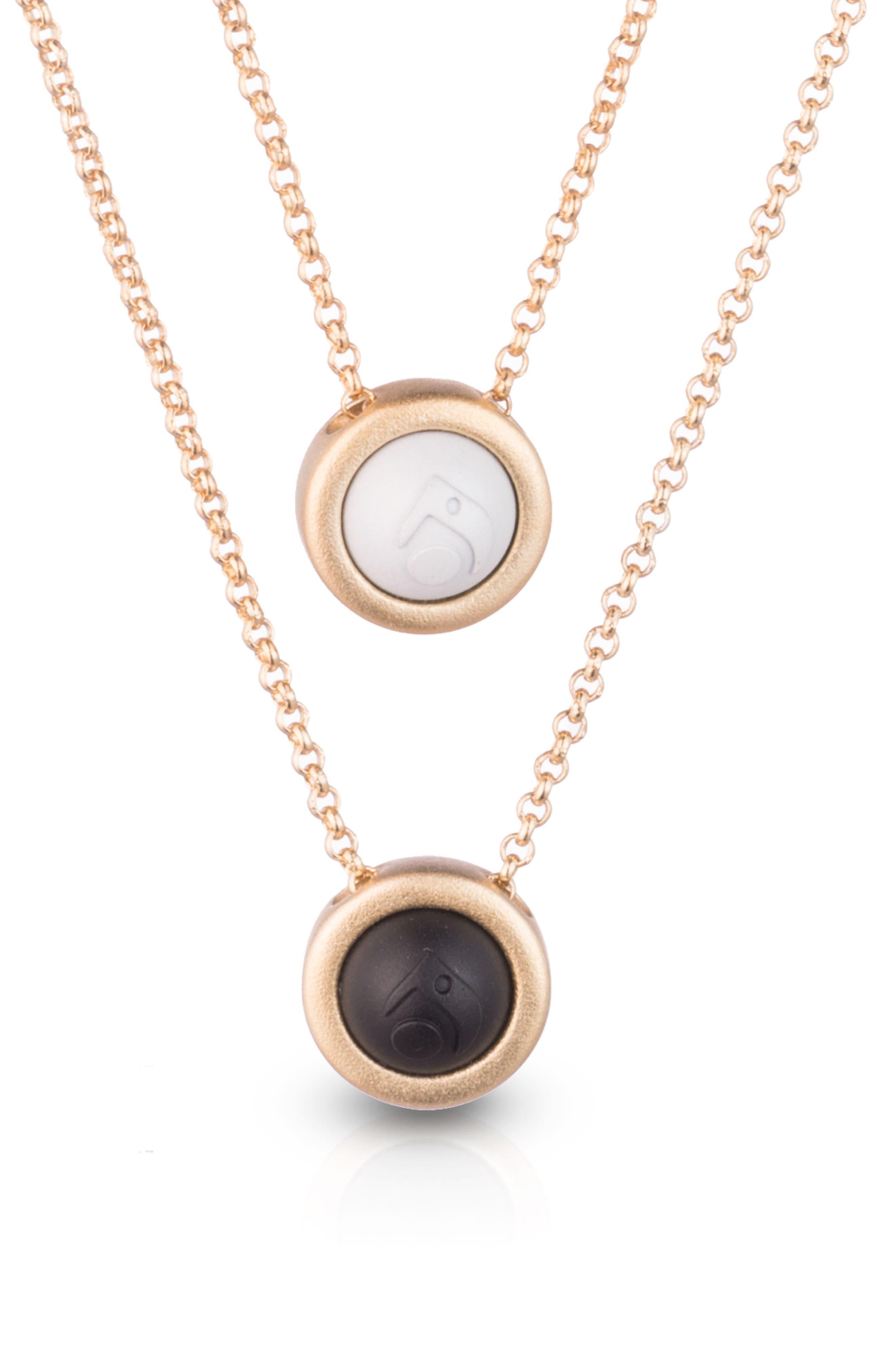Double Fine Chain Pendant Necklace,                             Alternate thumbnail 2, color,                             Gold