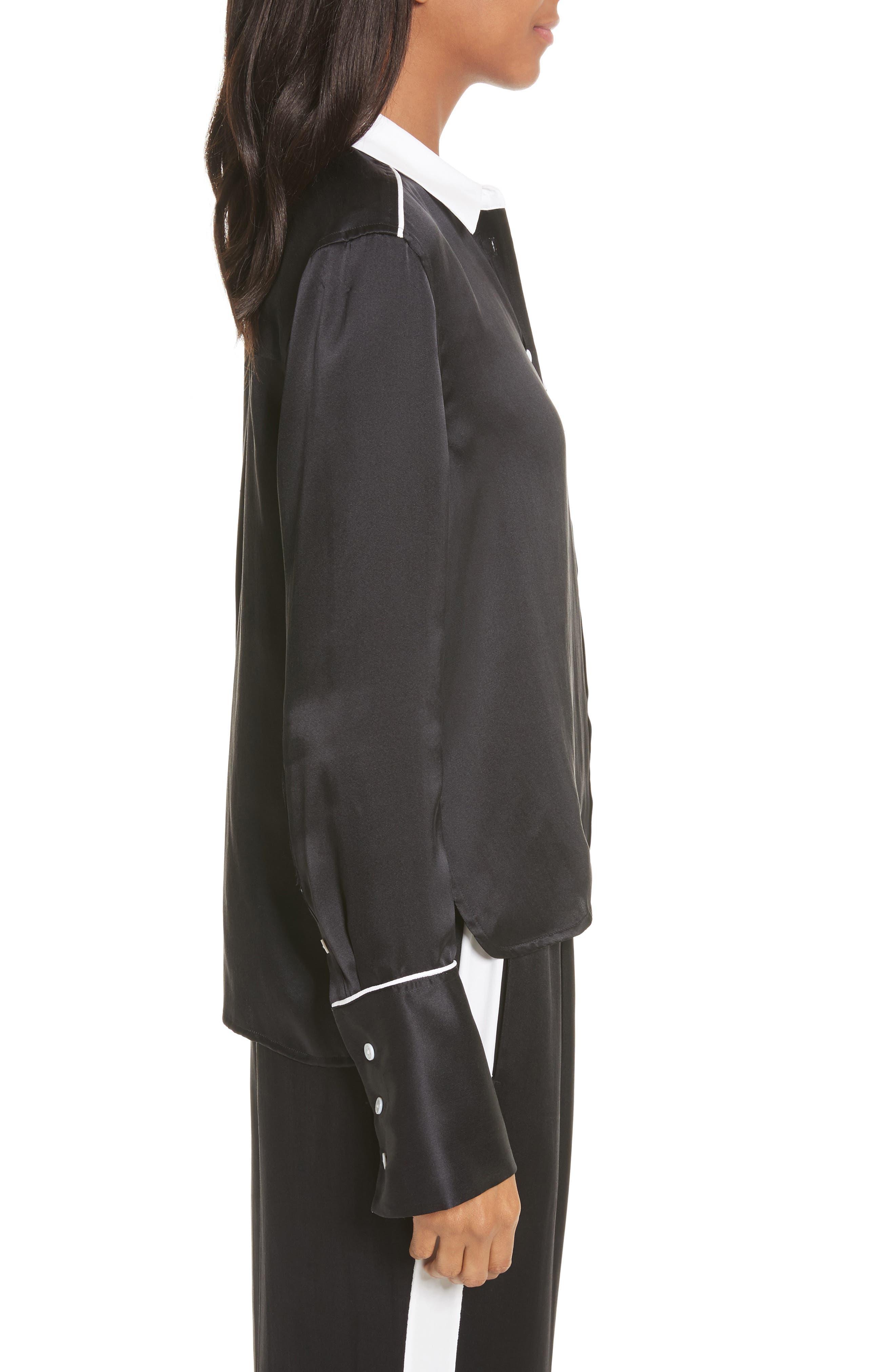 Alternate Image 3  - Equipment Huntley Contrast Silk Shirt