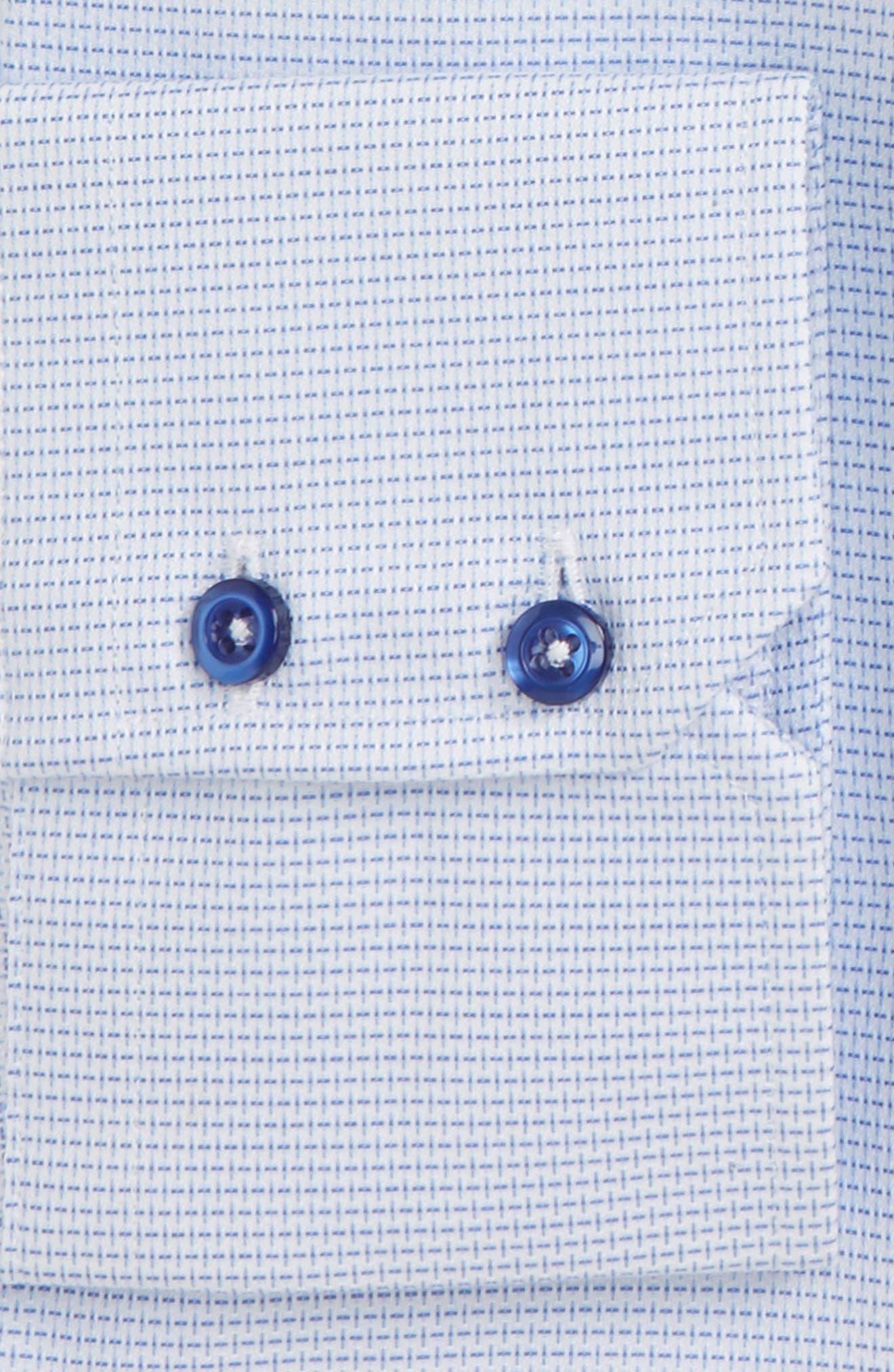 Trim Fit Solid Dress Shirt,                             Alternate thumbnail 2, color,                             Blue