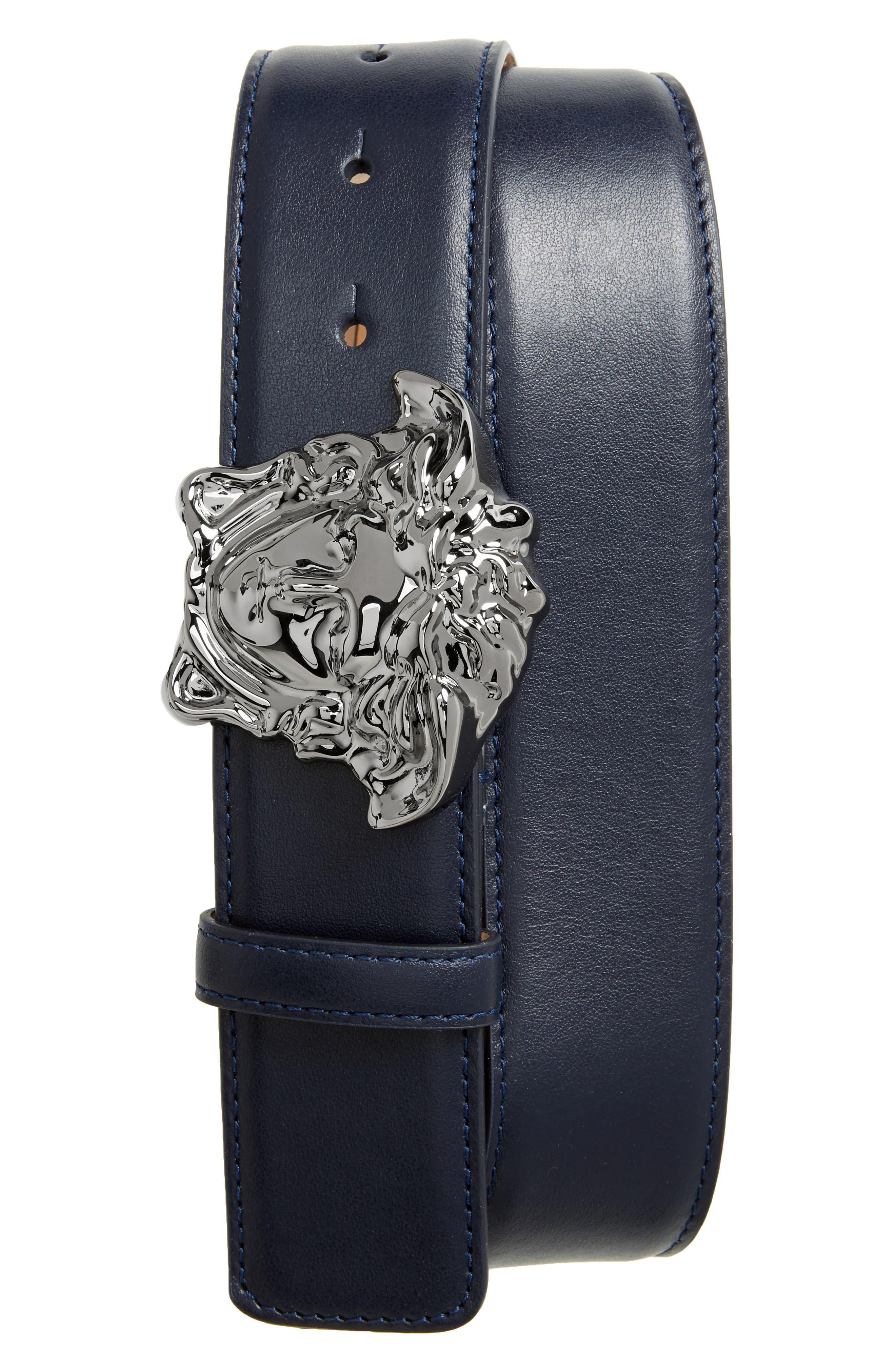 Versace Medusa Head Leather Belt