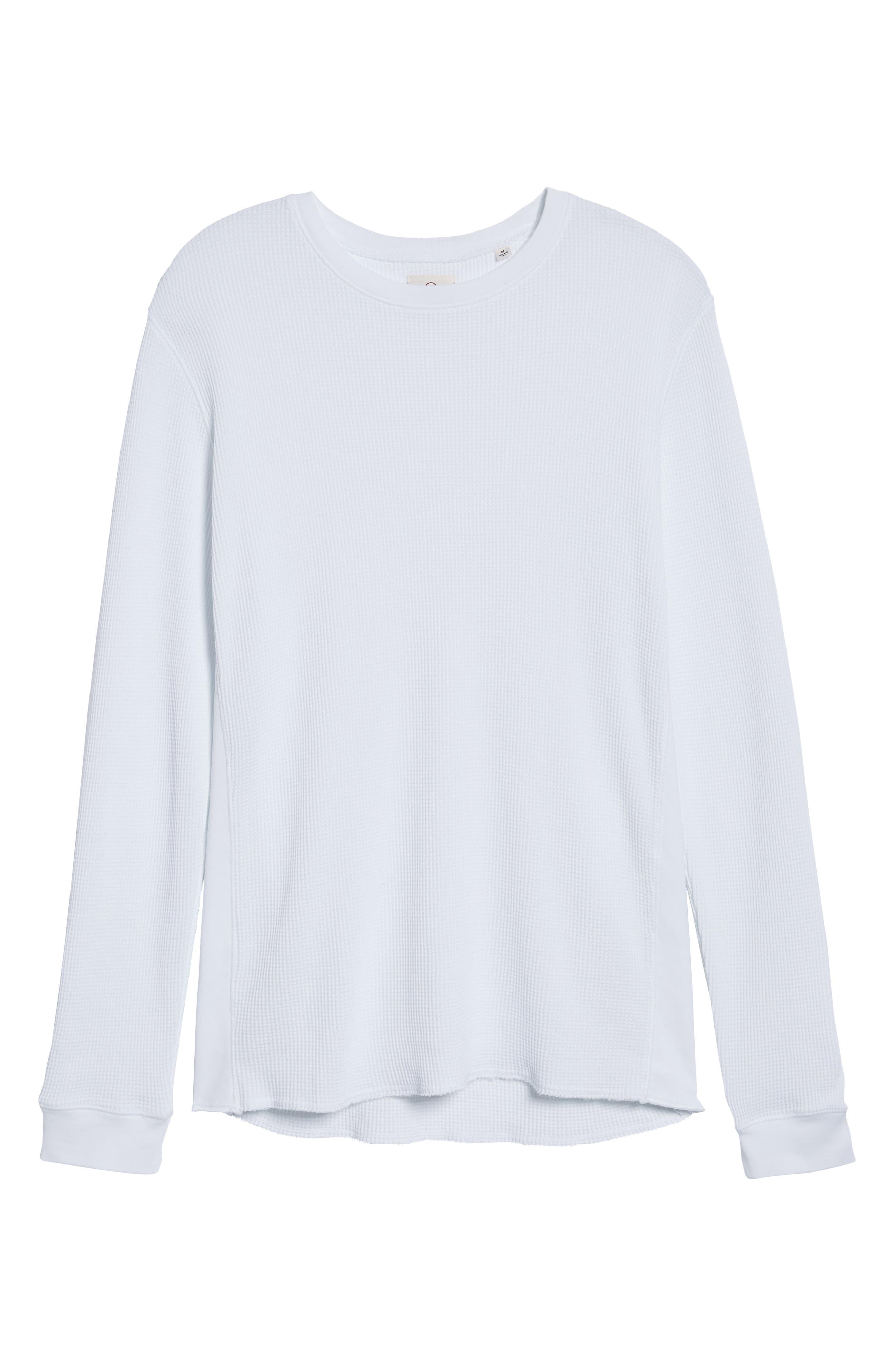 Travis Slim Fit Long Sleeve T-Shirt,                             Alternate thumbnail 6, color,                             True White