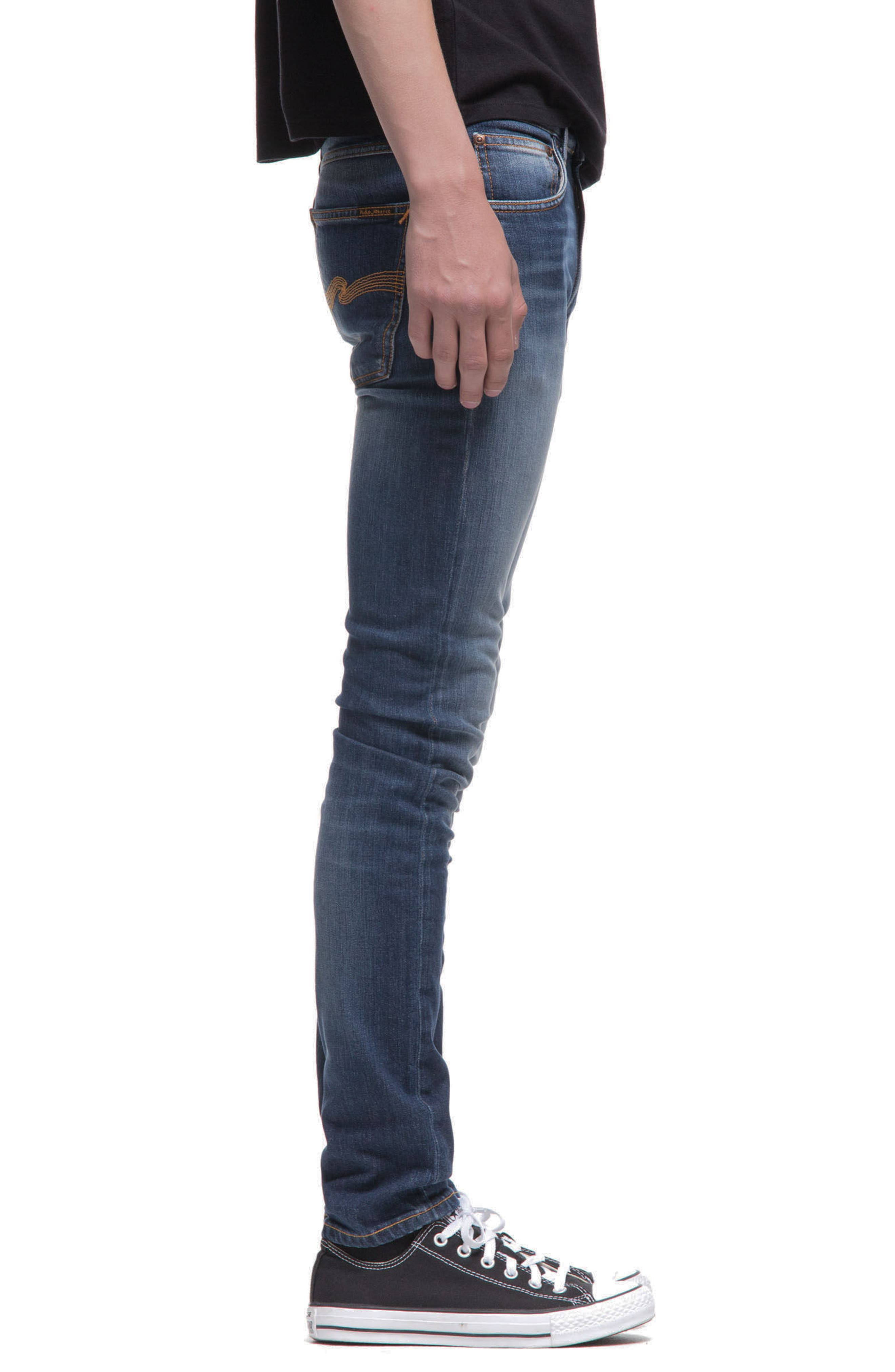 Alternate Image 3  - Nudie Jeans Lean Dean Slouchy Slim Fit Jeans (Blue Ridge)