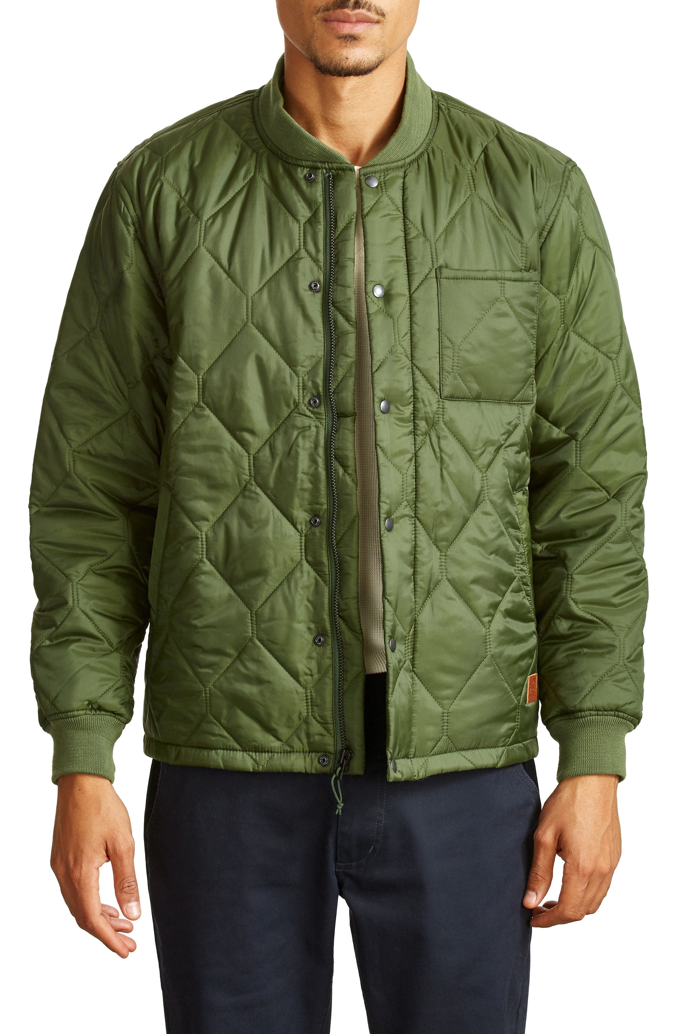 Crawford Quilted Jacket,                         Main,                         color, Evergreen