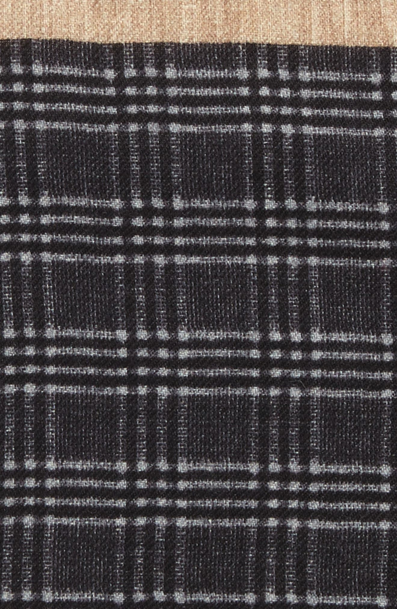 Plaid Wool Pocket Square,                             Alternate thumbnail 3, color,                             Grey