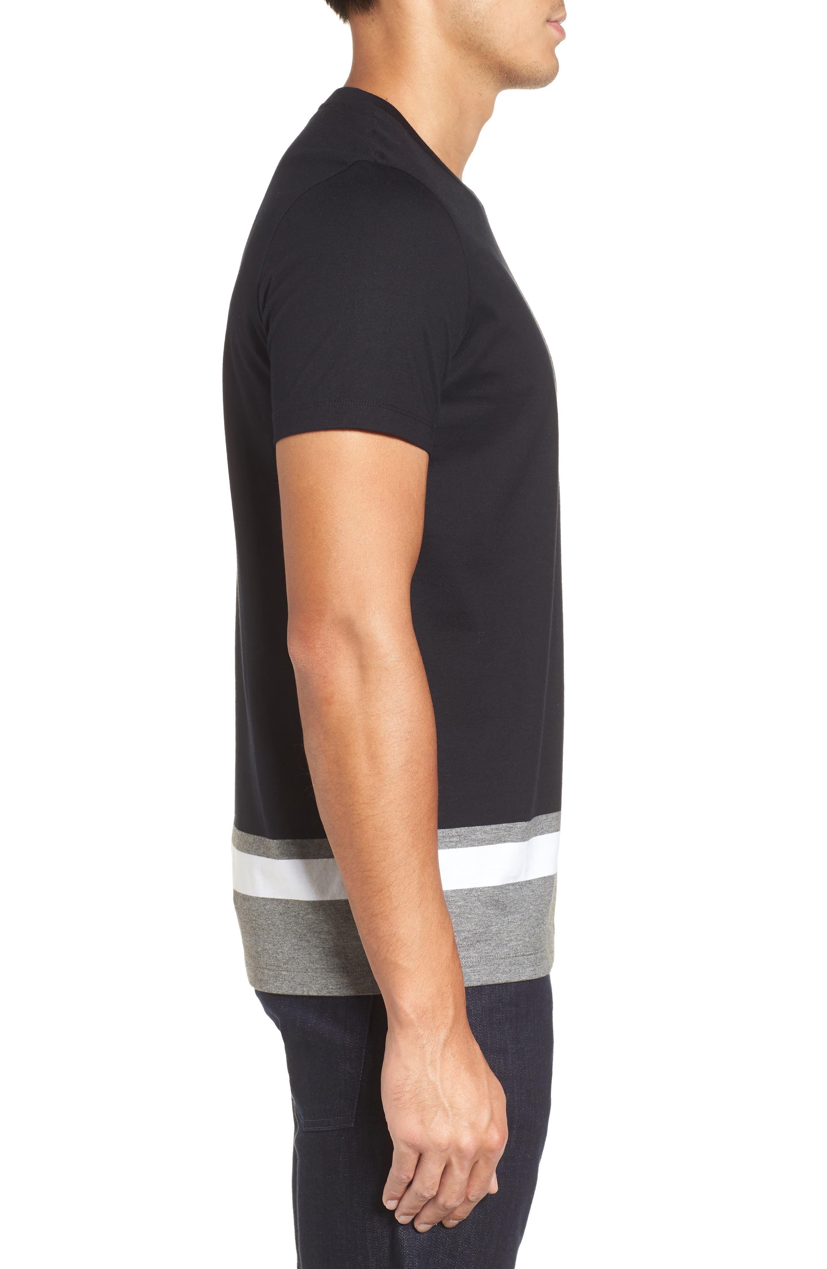 Tiburt Colorblock T-Shirt,                             Alternate thumbnail 3, color,                             Black
