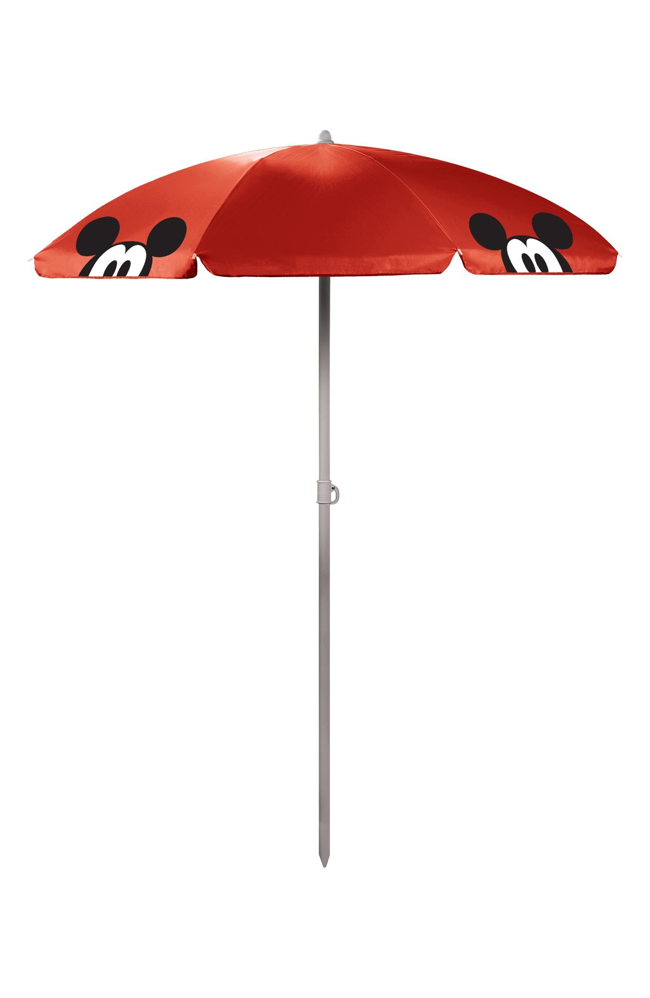 Disney<sup>®</sup> Mickey Mouse Portable Beach & Picnic Umbrella,                             Main thumbnail 1, color,                             Mickey