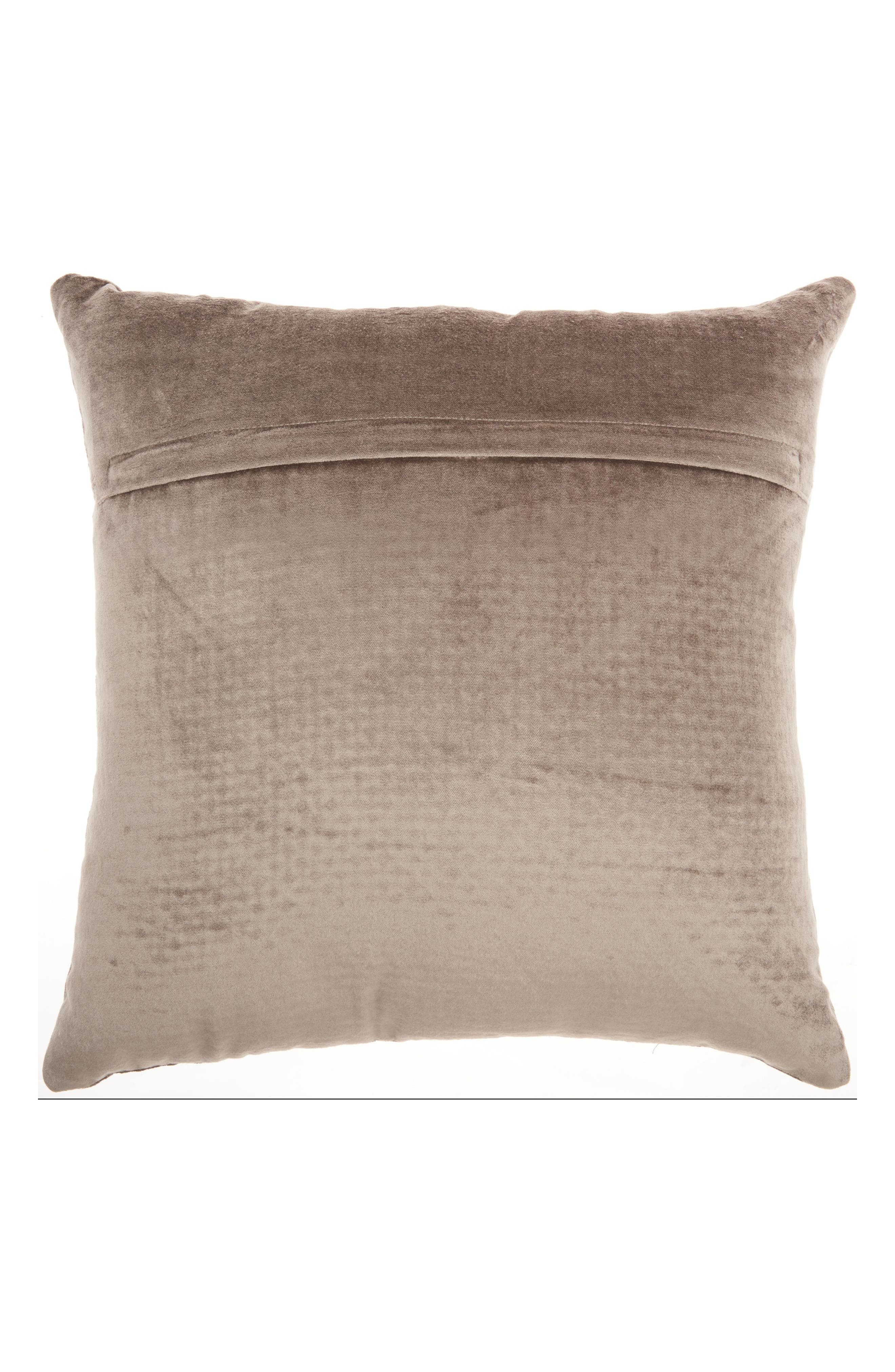 Cobble Jewel Accent Pillow,                             Alternate thumbnail 2, color,                             Taupe