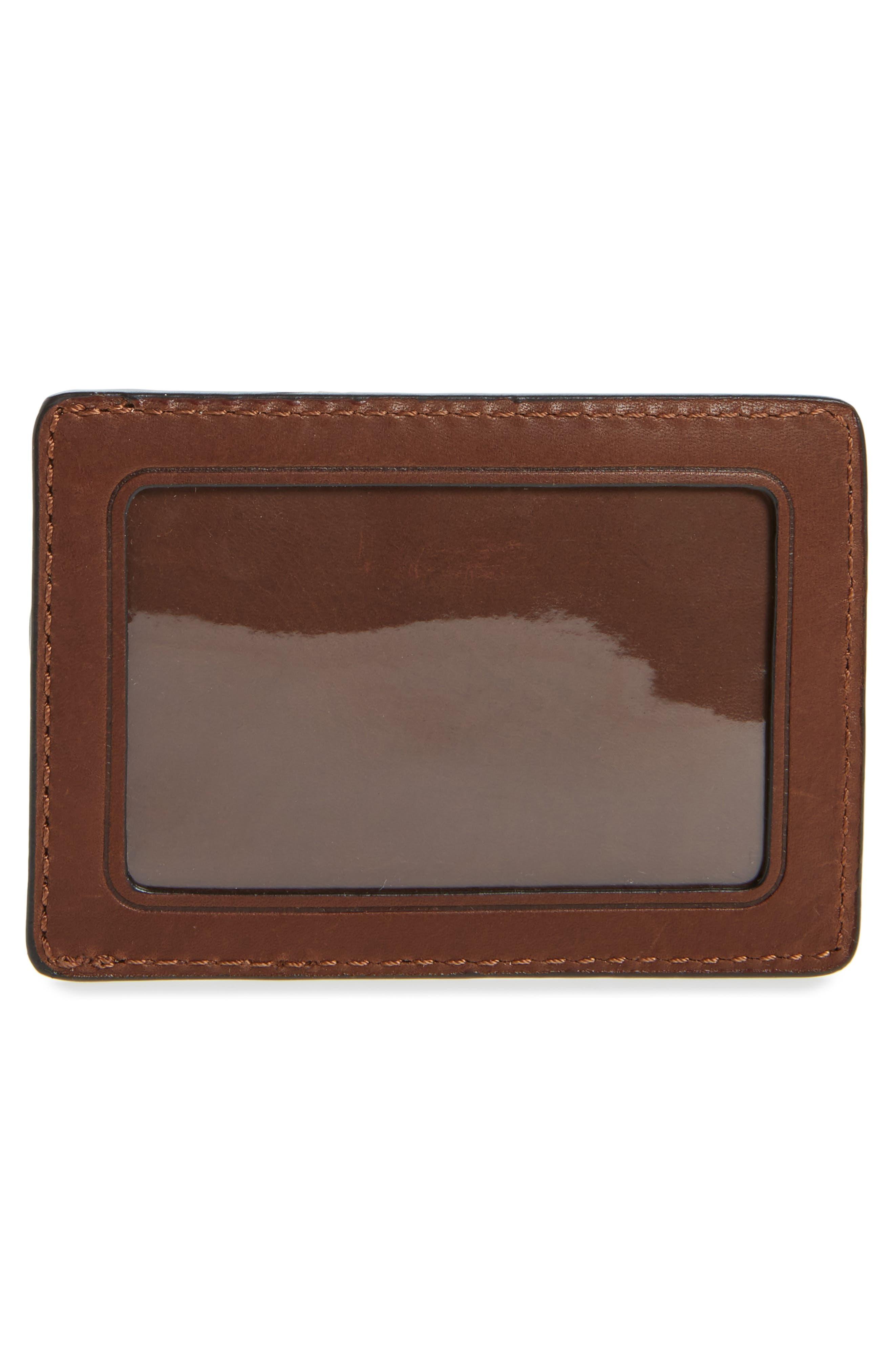 Oliver Leather Card Case,                             Alternate thumbnail 2, color,                             Cognac