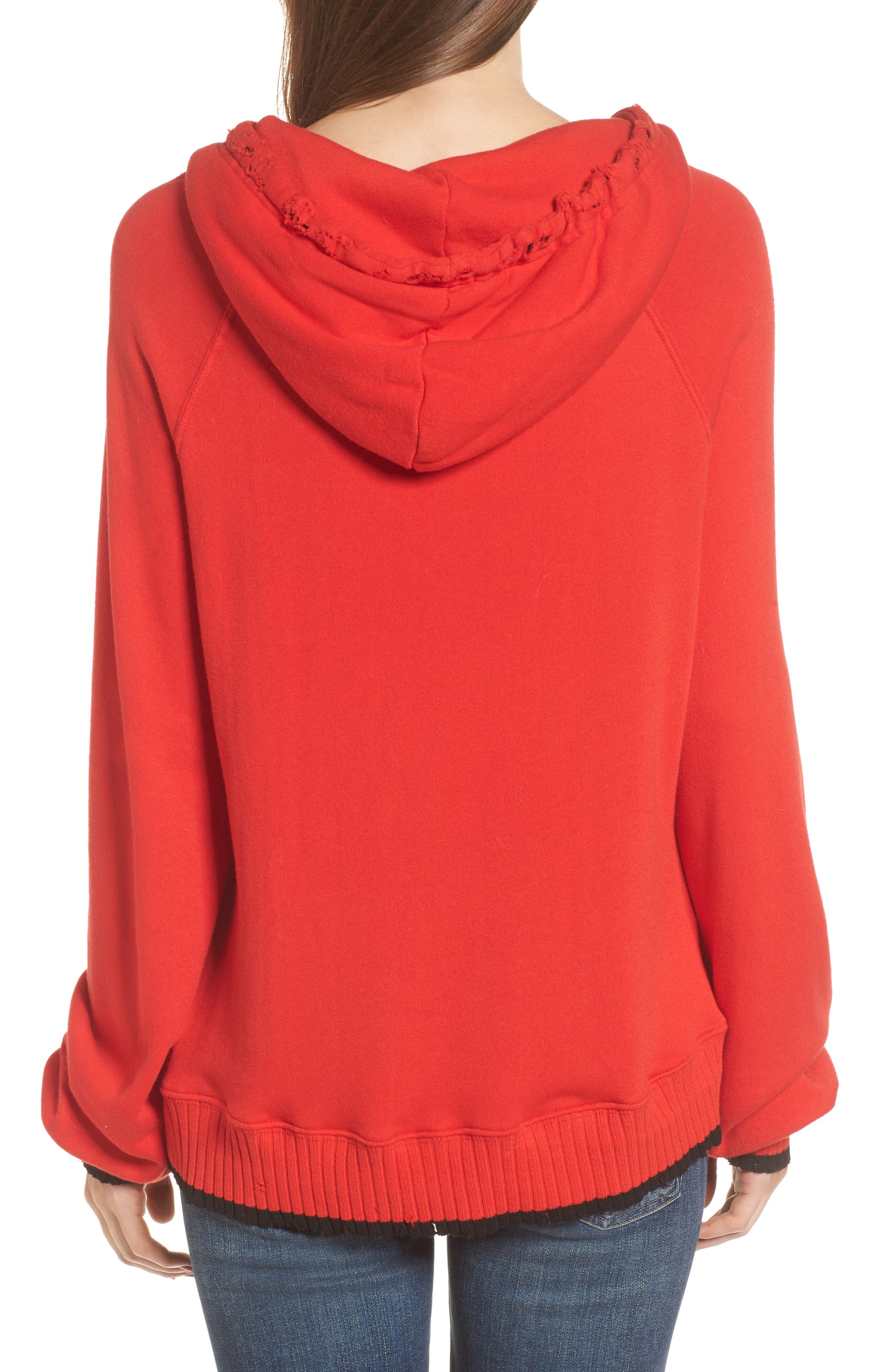 Hollywood Tipped Hoodie,                             Alternate thumbnail 2, color,                             Formula 1 Red