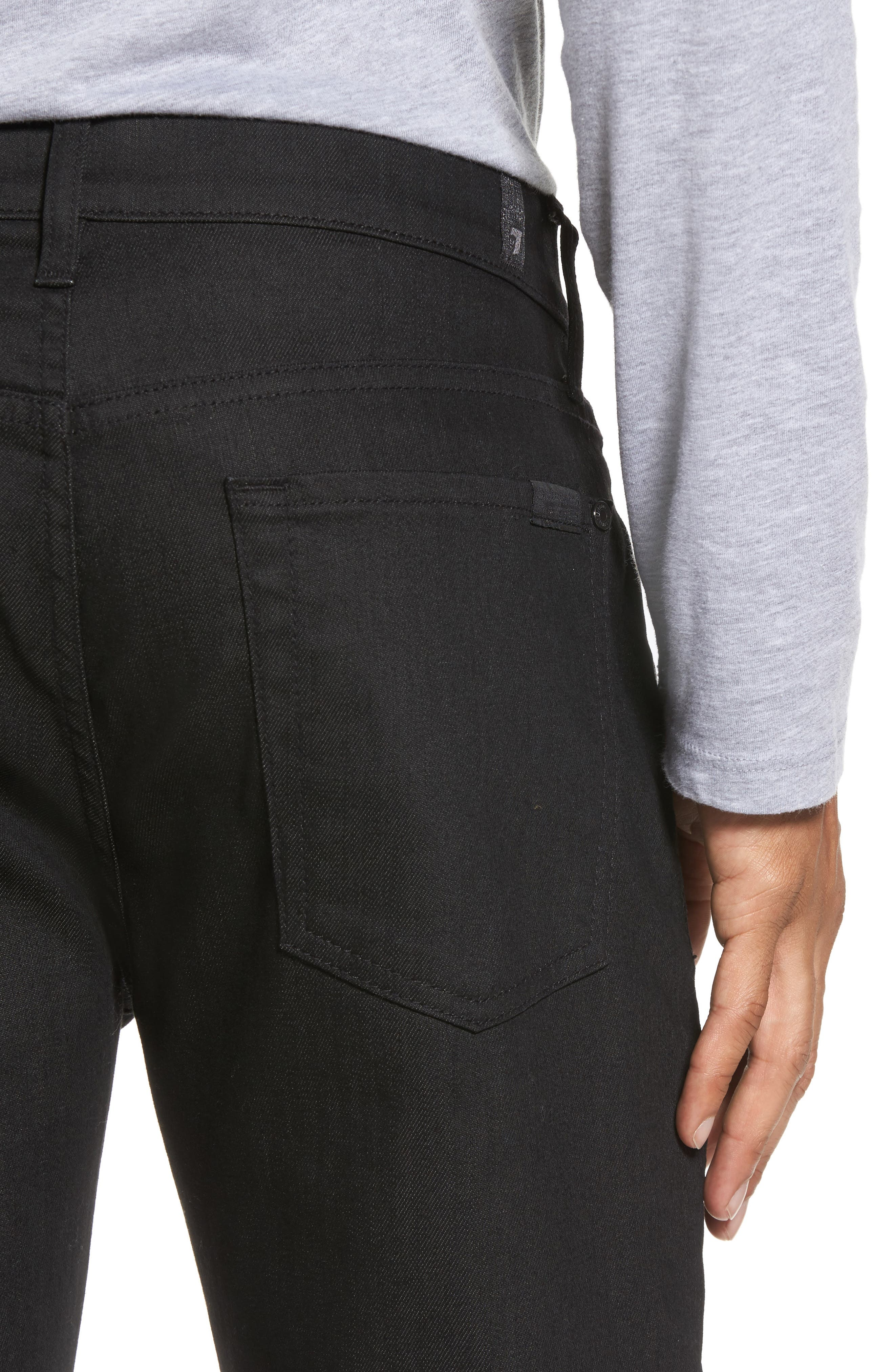 Alternate Image 4  - 7 For All Mankind® Airweft - Slimmy Slim Fit Jeans (Soiree Black)