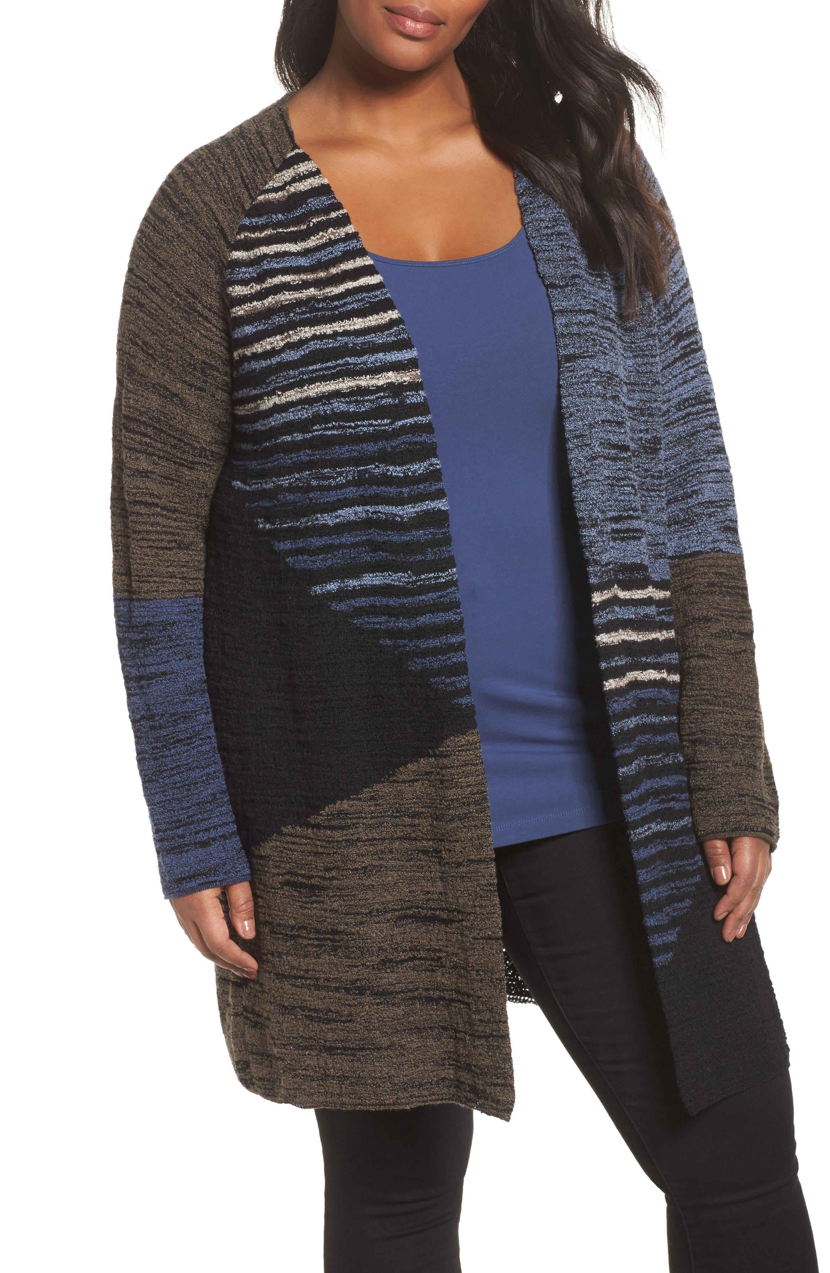 Alternate Image 1 Selected - NIC+ZOE Layover Cardigan (Plus Size)