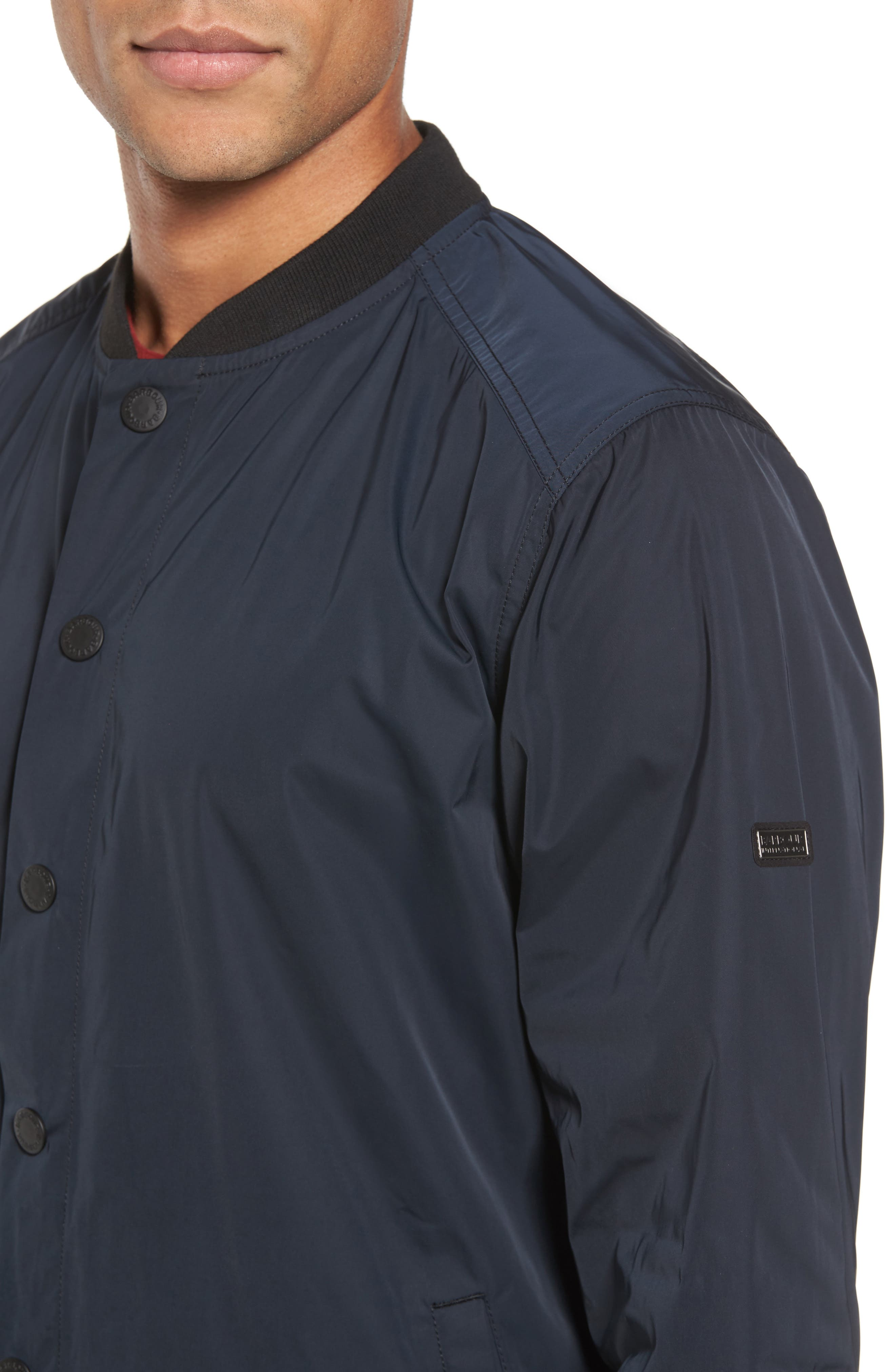 International Snap Front Overshirt,                             Alternate thumbnail 4, color,                             Black
