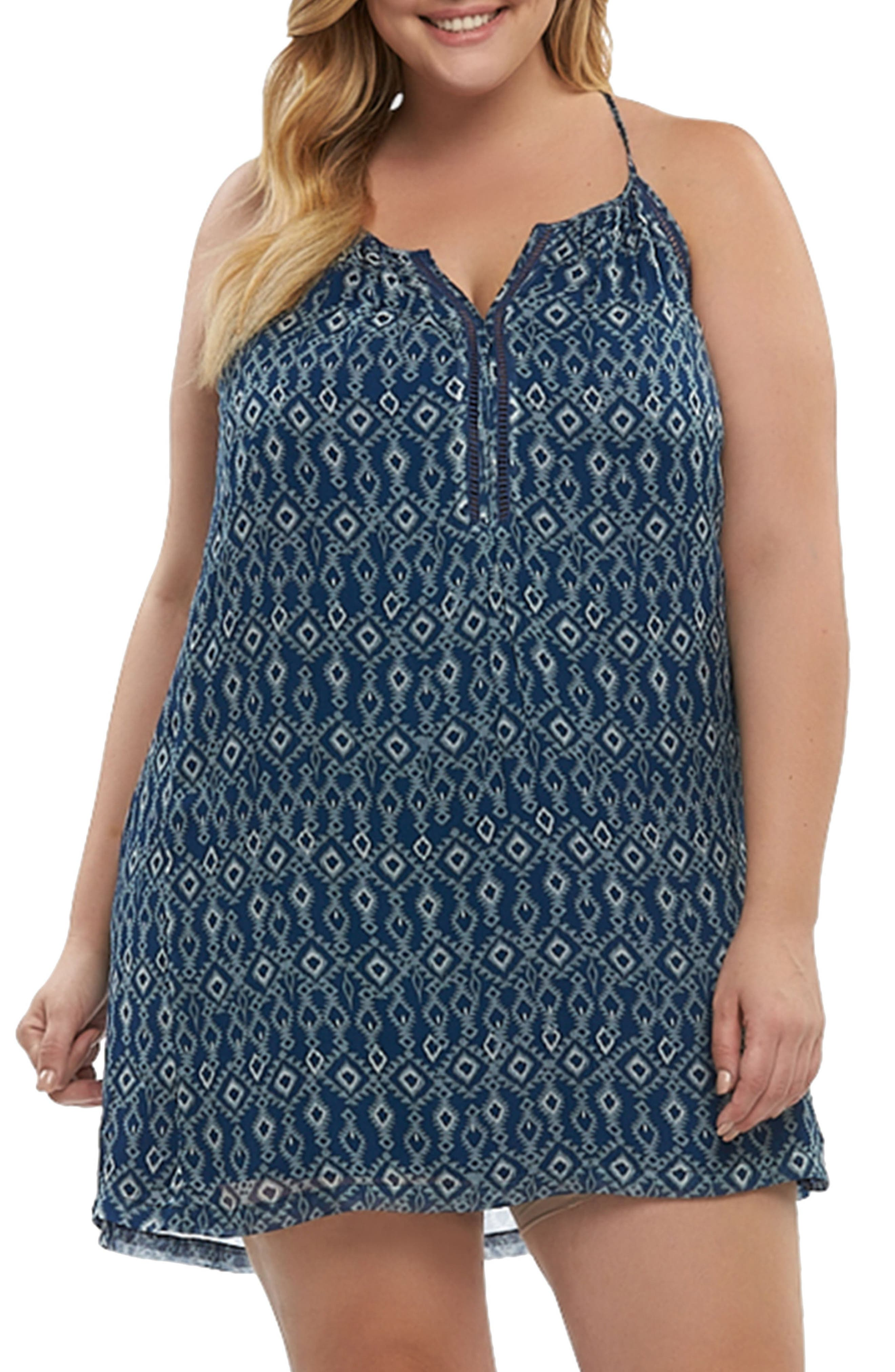 Main Image - Tart Athena Print Cover-Up Dress (Plus Size)