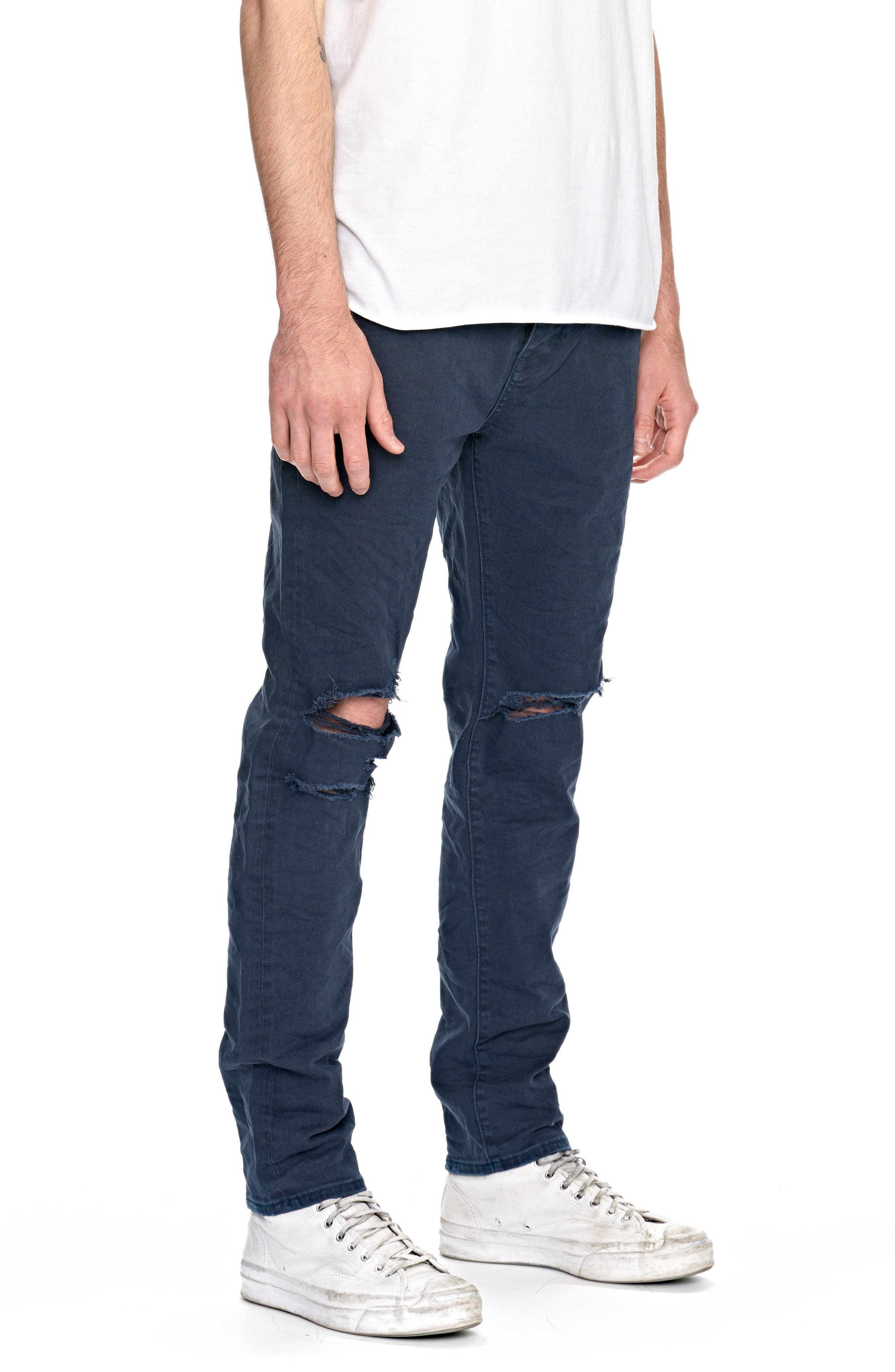 Ray Slouchy Slim Fit Jeans,                             Alternate thumbnail 3, color,                             Busted Navy