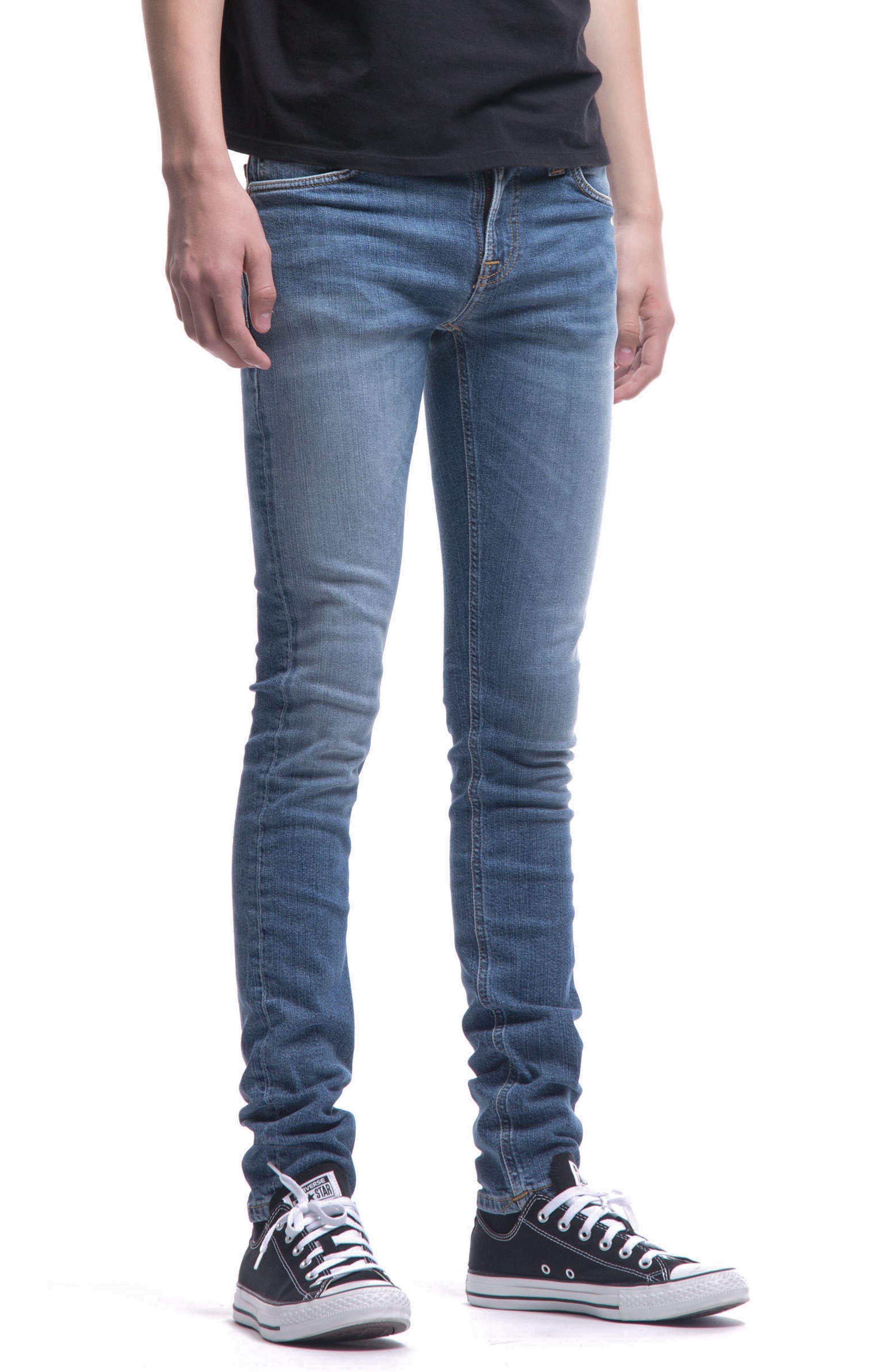 Alternate Image 4  - Nudie Jeans Skinny Lin Skinny Fit Jeans (Celestial)