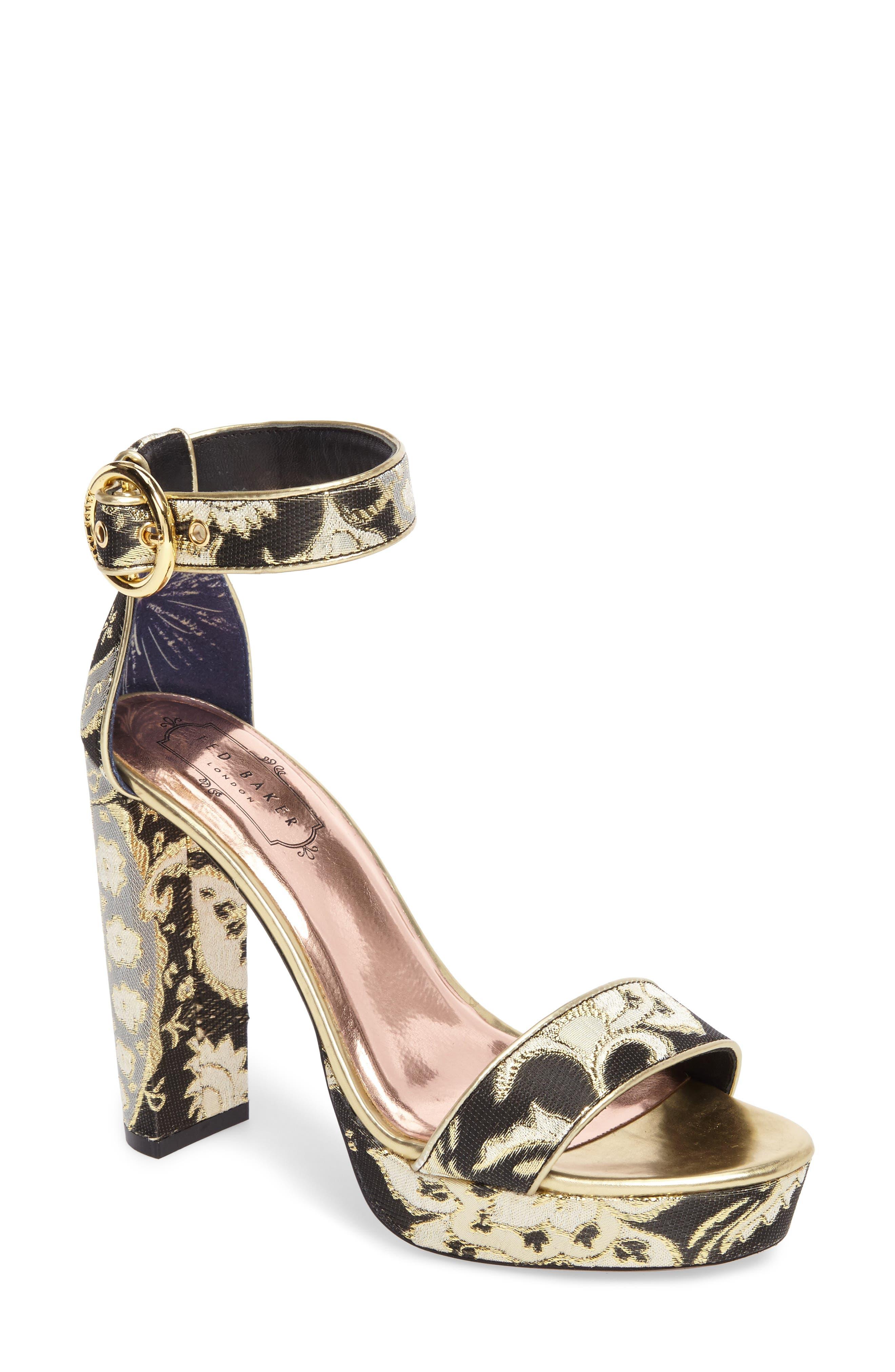 Alternate Image 1 Selected - Ted Baker London Jewll Ankle Strap Sandal (Women)
