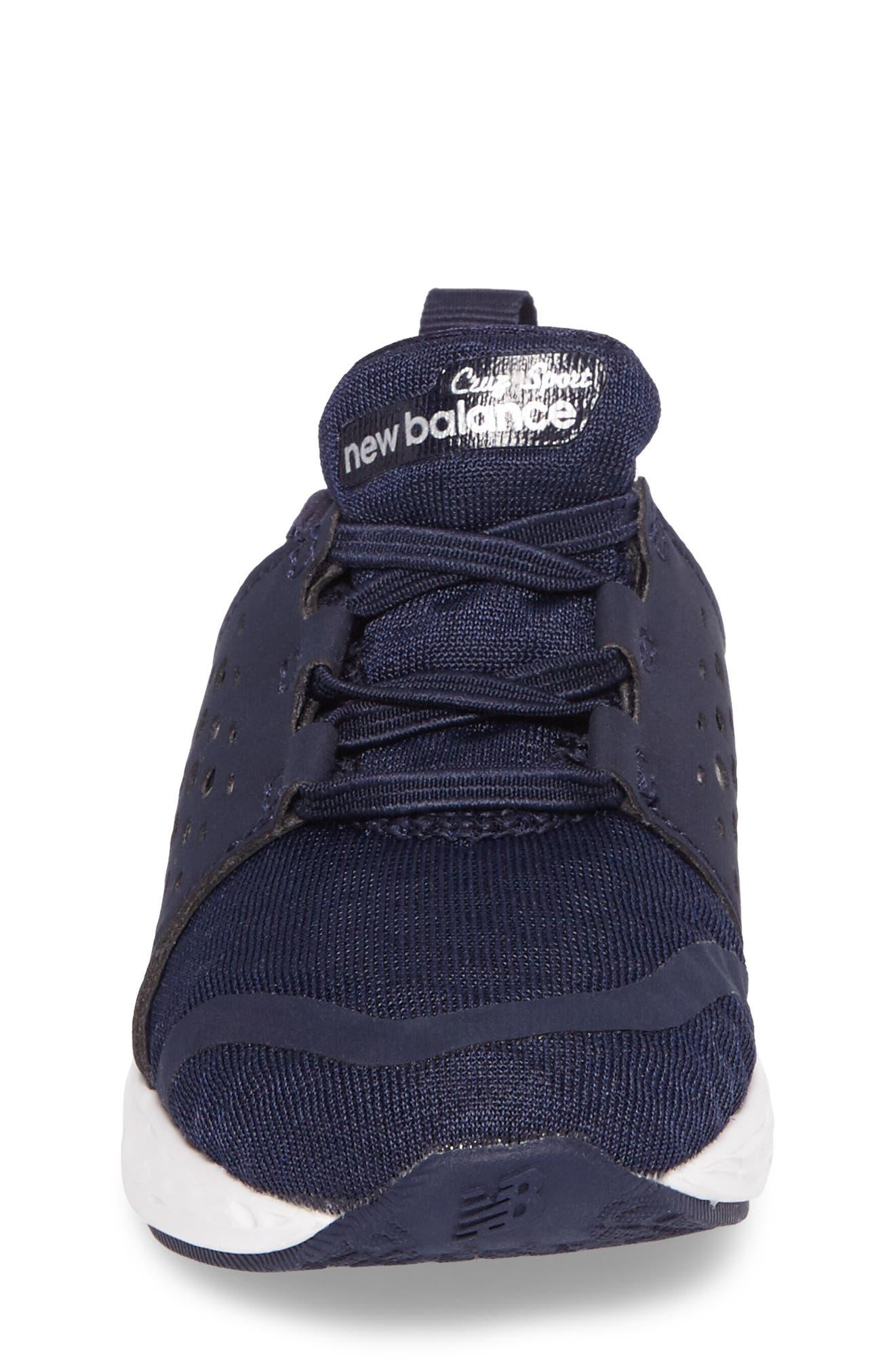 Cruz Sport Sneaker,                             Alternate thumbnail 4, color,                             Navy/ White