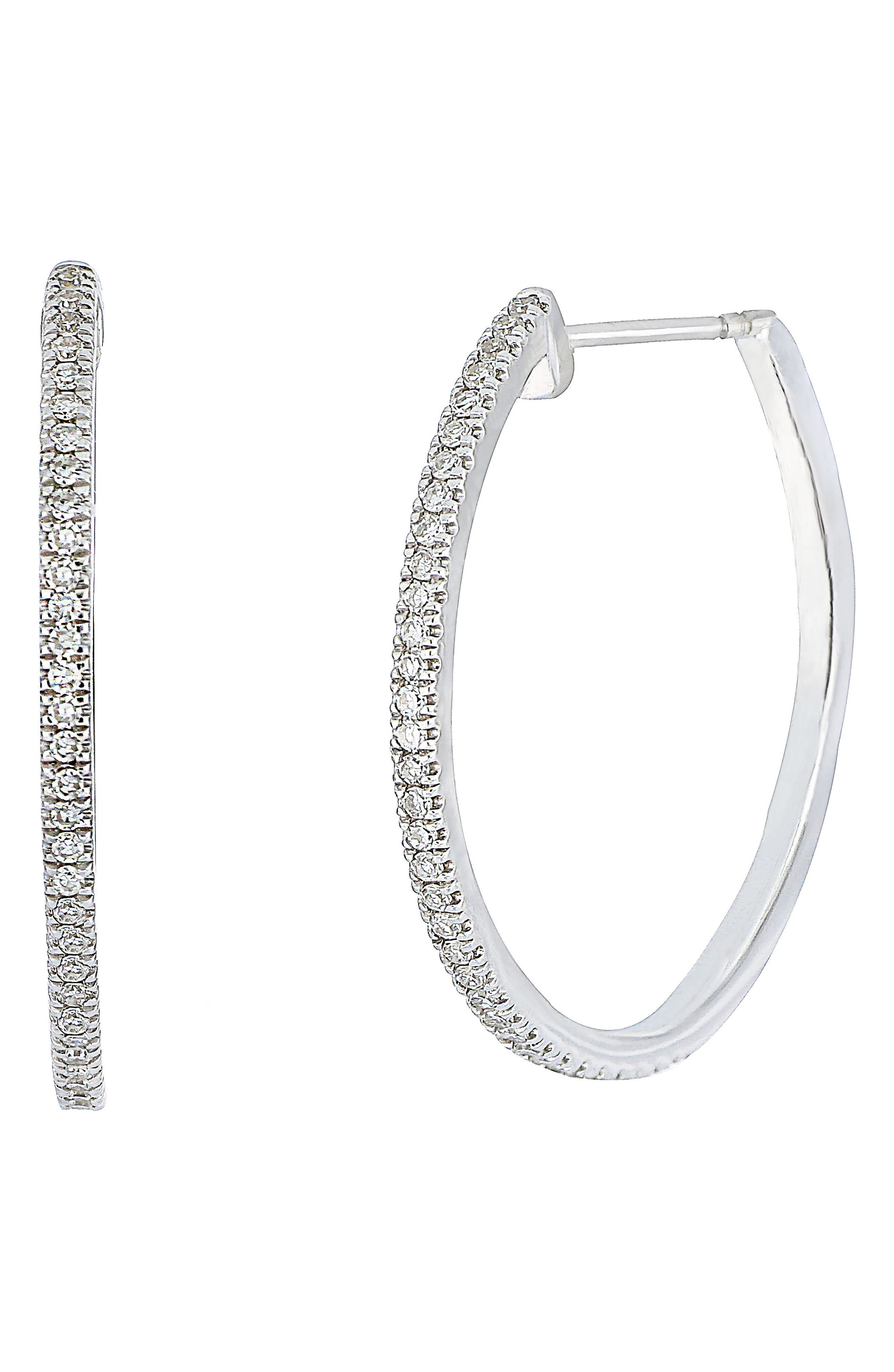 Carrière Diamond Hoop Earrings (Nordstrom Exclusive)