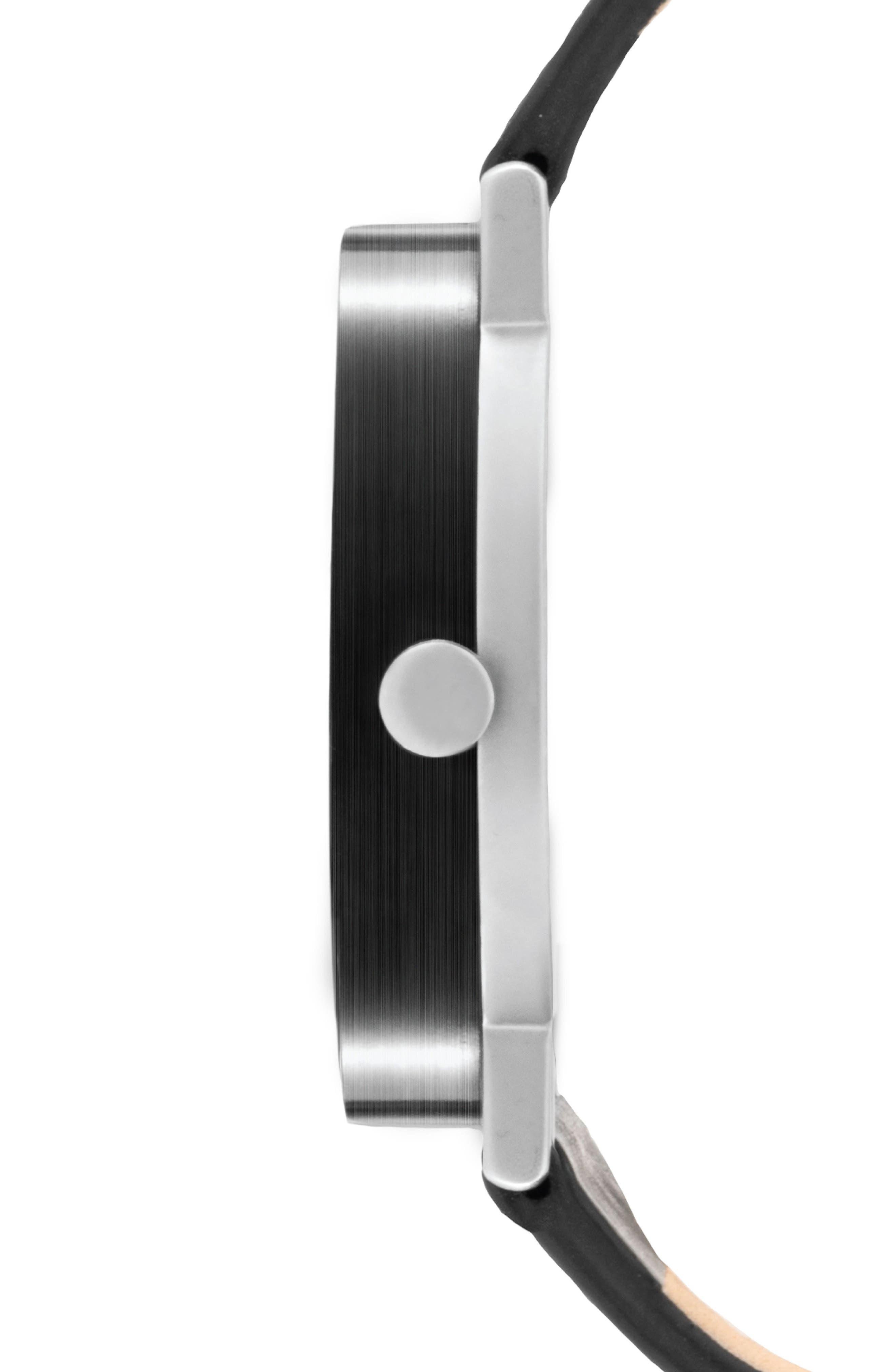 Alternate Image 2  - Leonard & Church Thompson Leather Strap Watch, 40mm
