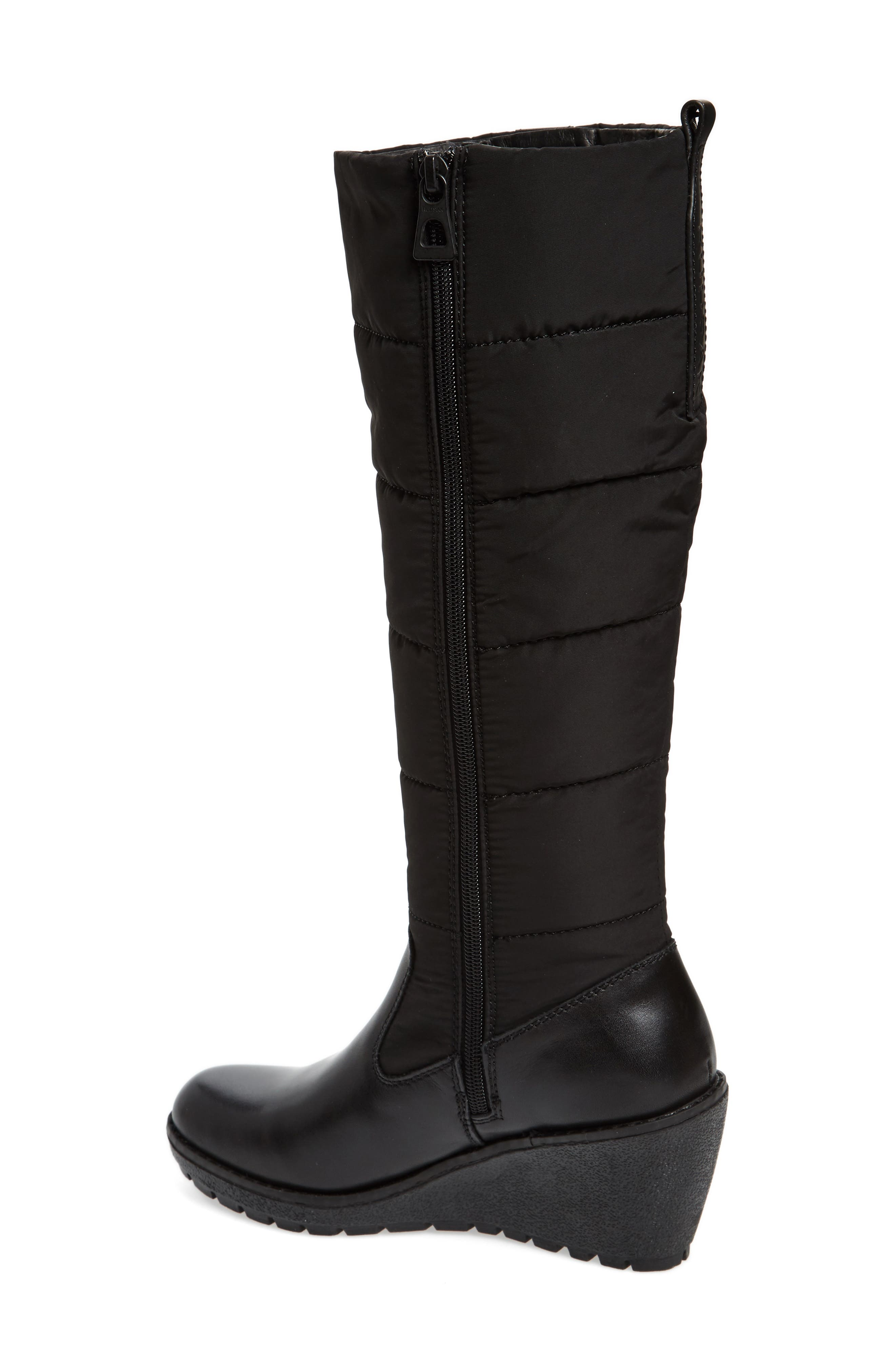 Bethany Water Resistant Boot,                             Alternate thumbnail 2, color,                             Black Leather