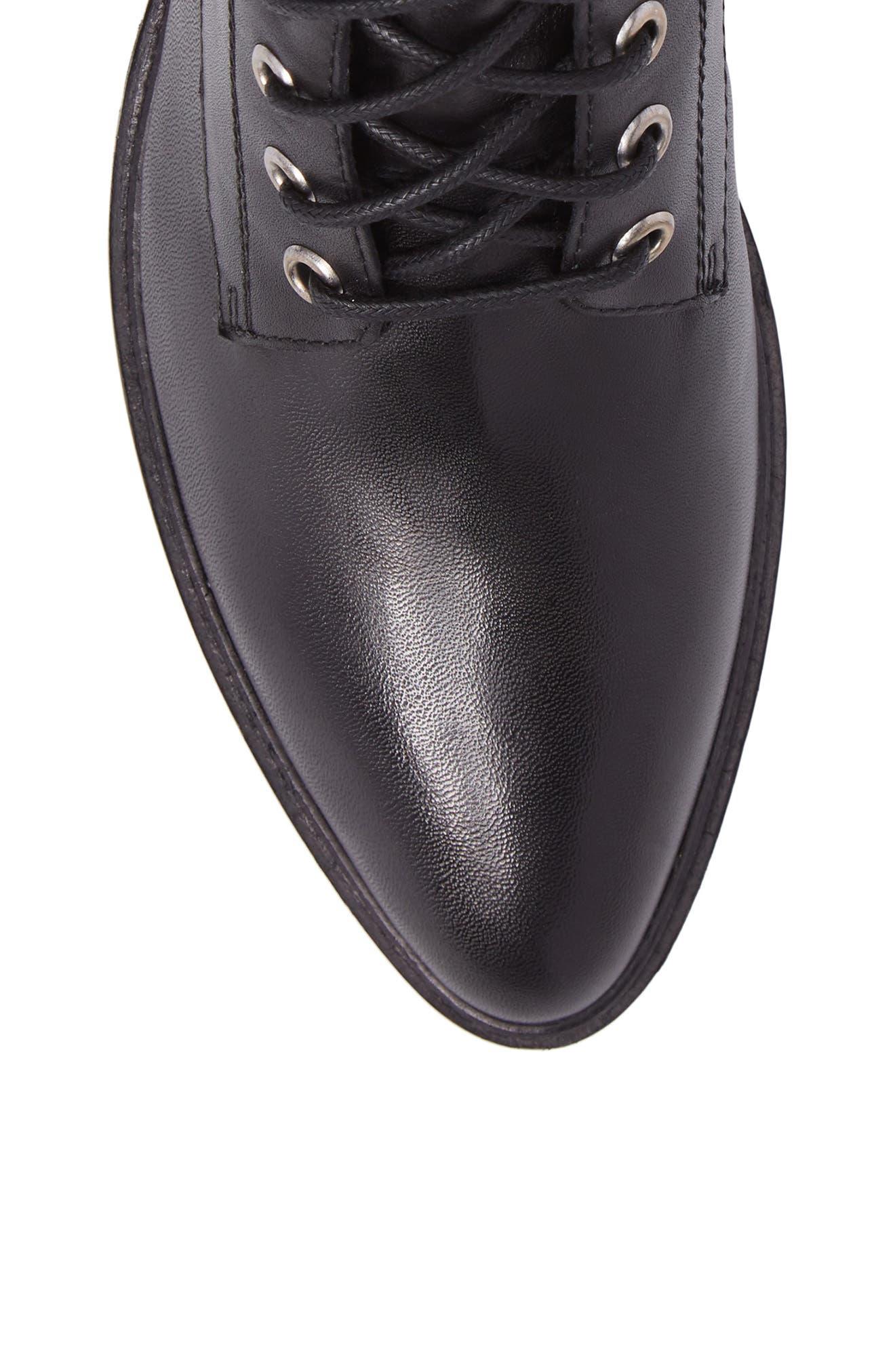 Tempt Boot,                             Alternate thumbnail 5, color,                             Black Leather