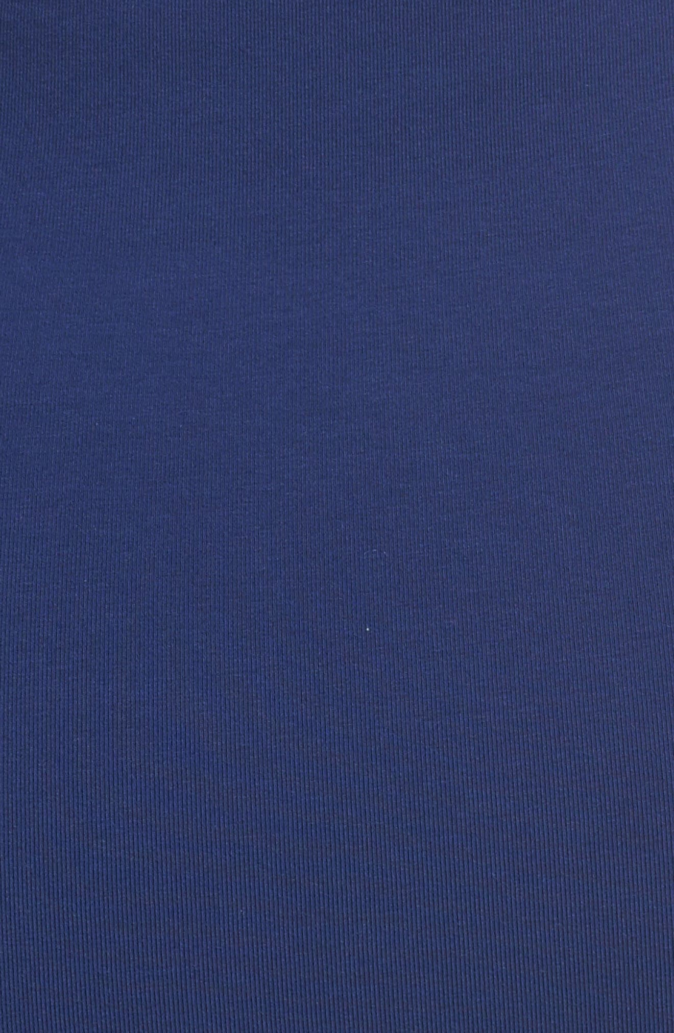T7 Sweatshirt Dress,                             Alternate thumbnail 6, color,                             Blue Depths
