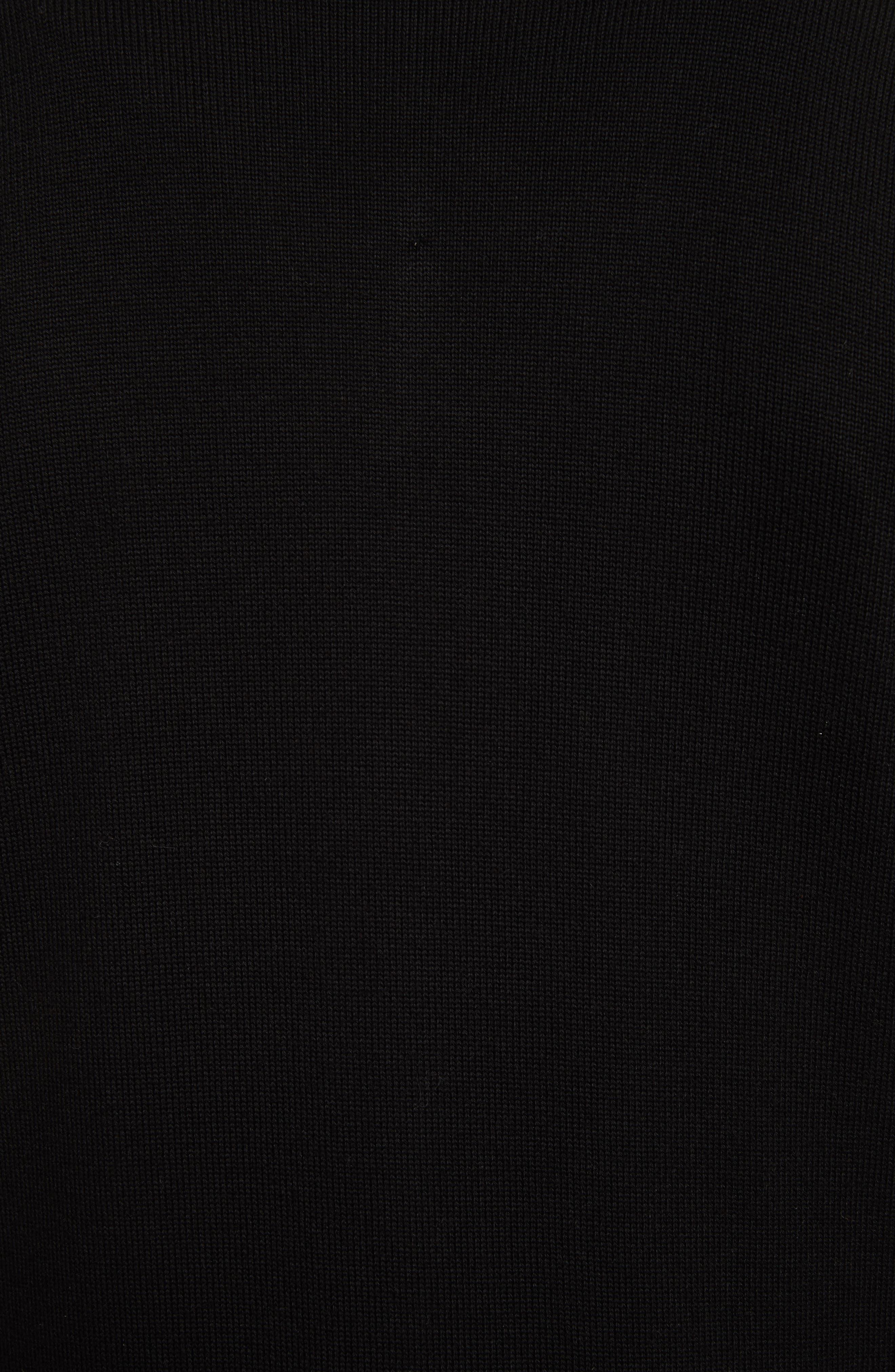 Allerford Knit Cotton Jacket,                             Alternate thumbnail 5, color,                             Black