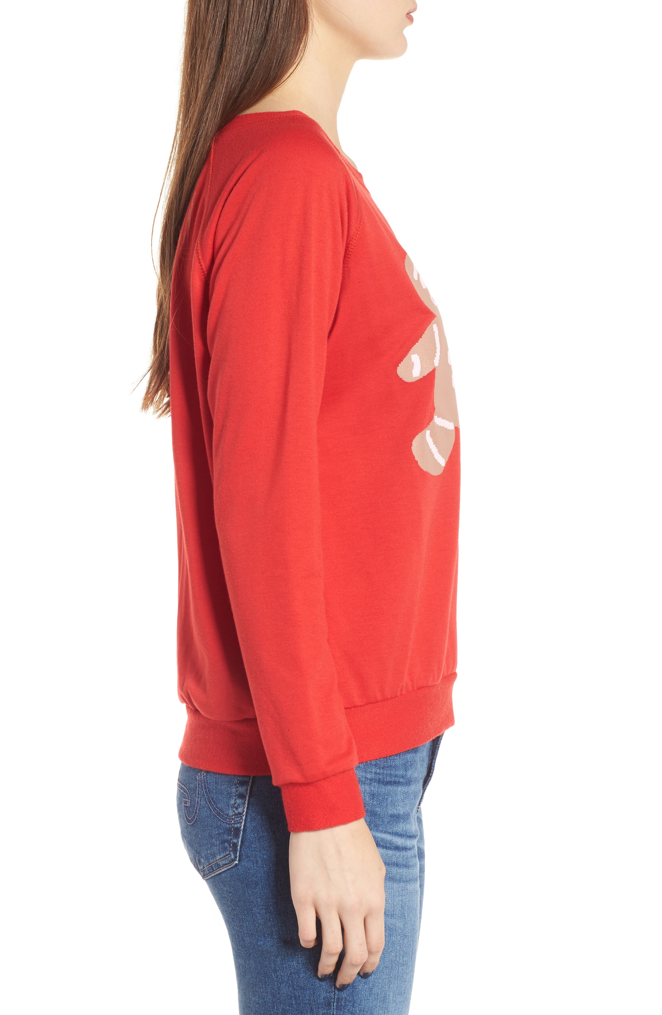Oh Snap Sweatshirt,                             Alternate thumbnail 3, color,                             Red