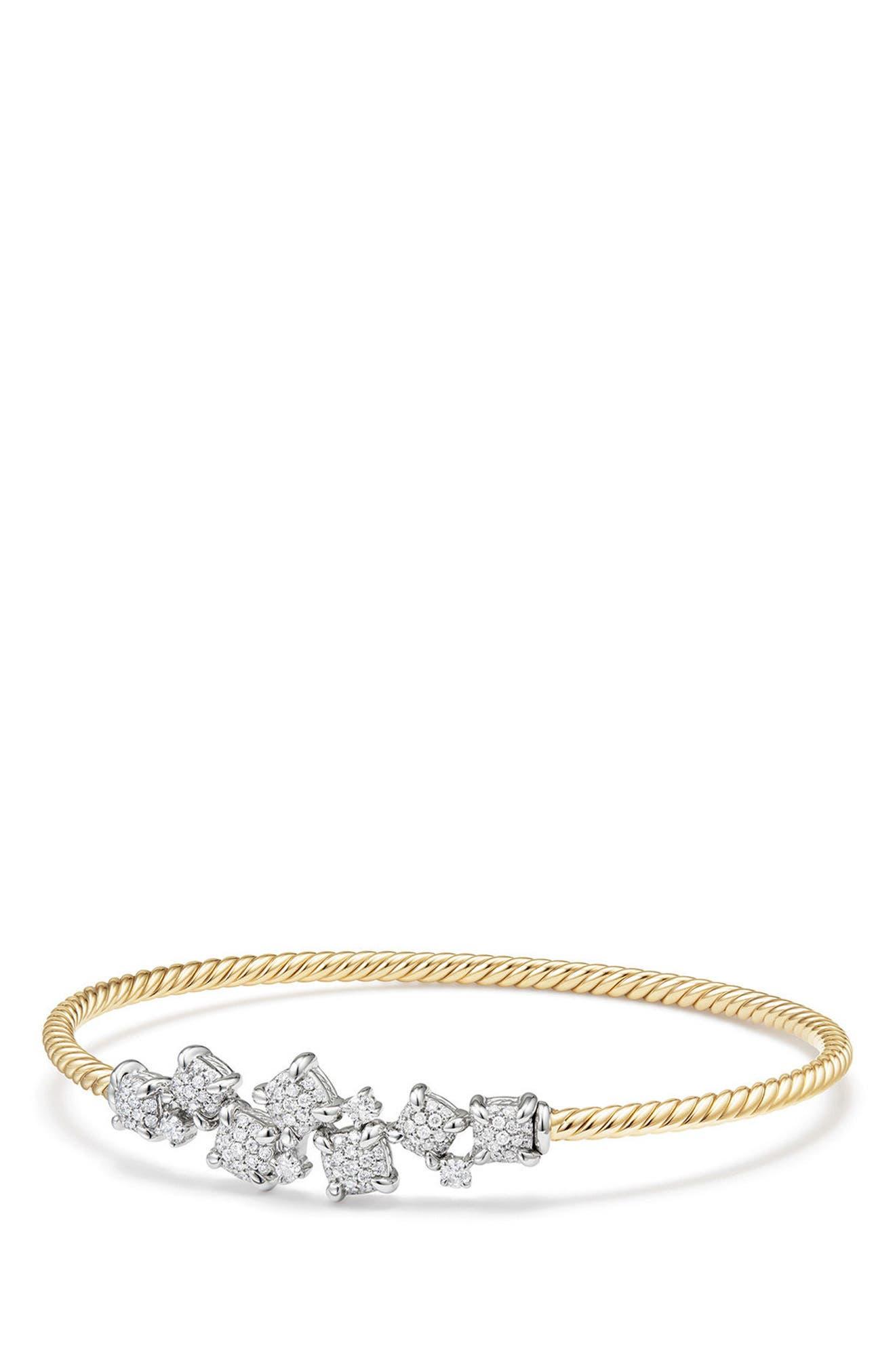 David Yurman Precious Châtelaine Bracelet with Diamonds in 18K Gold