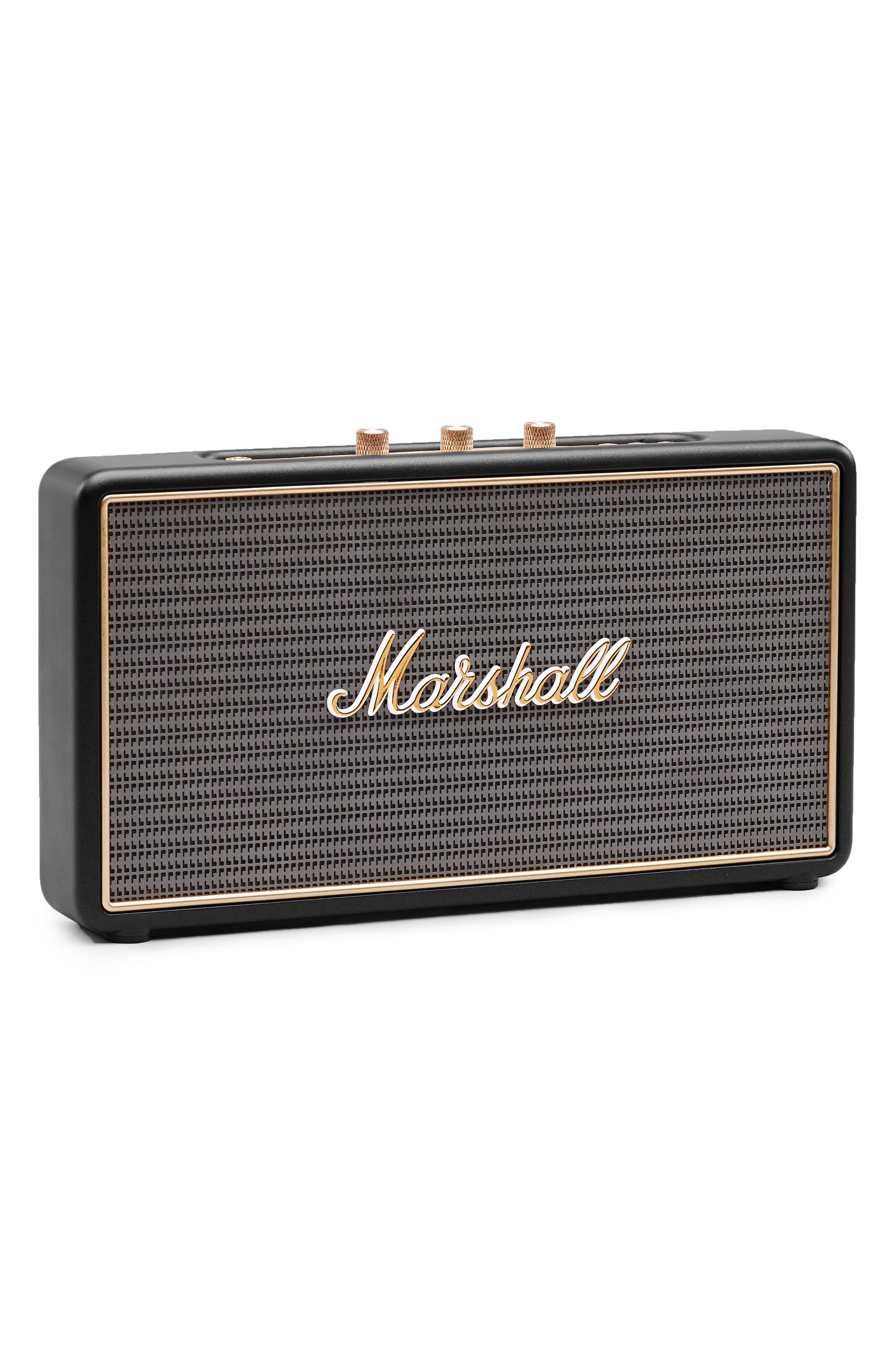 'Stockwell' Bluetooth<sup>®</sup> Speaker,                             Alternate thumbnail 5, color,                             Black