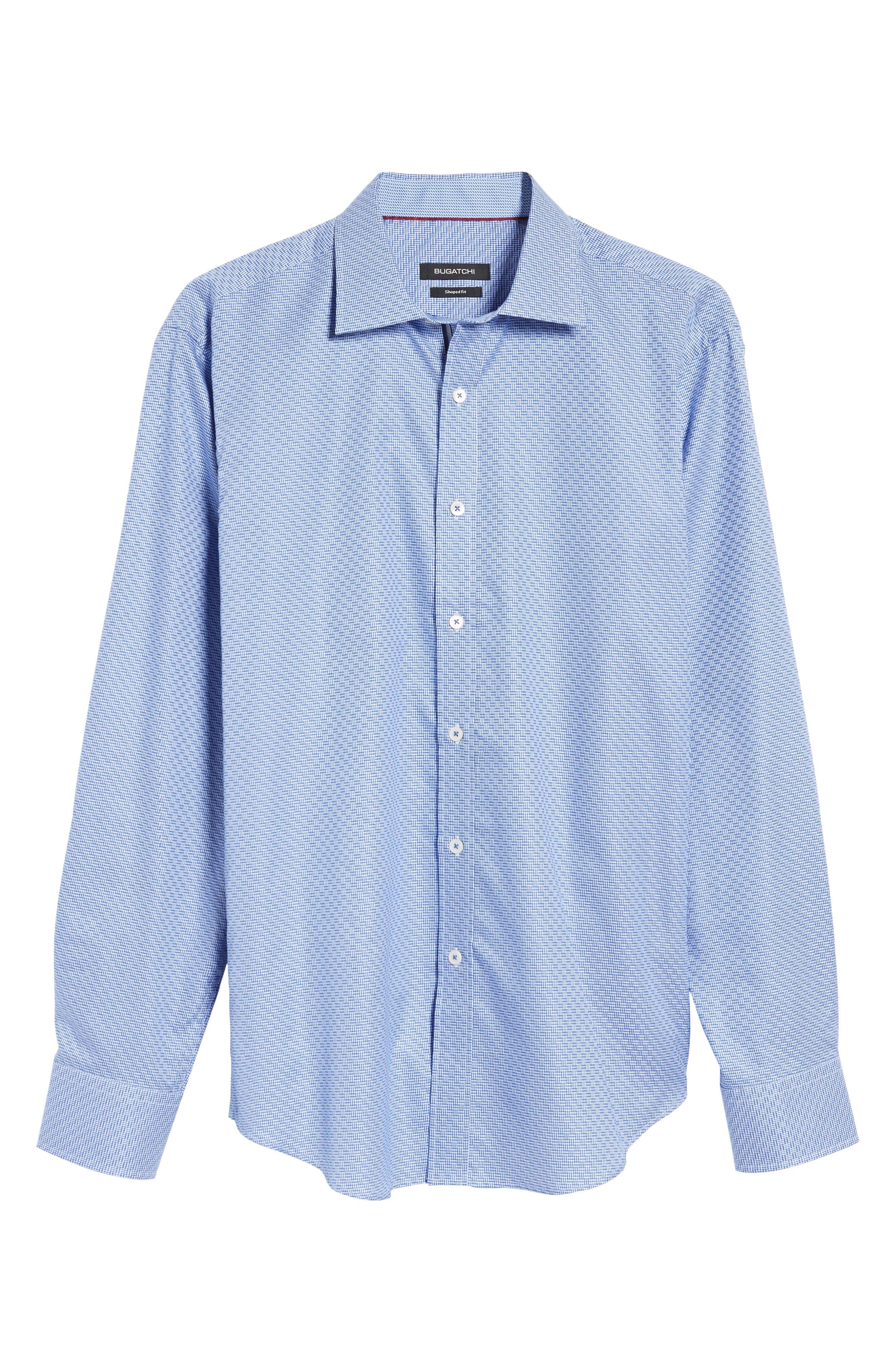 Alternate Image 6  - Bugatchi Shaped Fit Sport Shirt