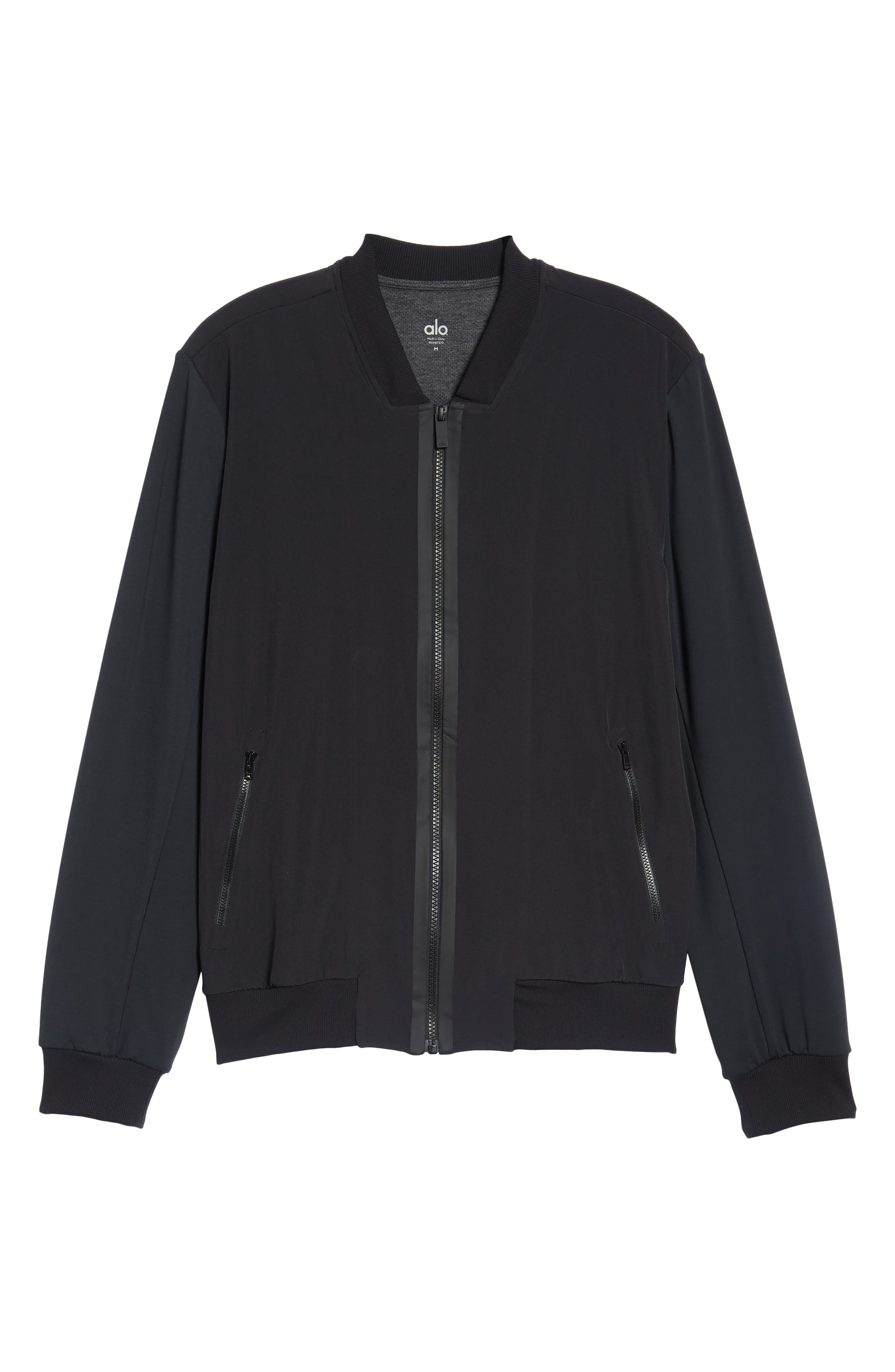 Inversion Relaxed Bomber Jacket,                             Alternate thumbnail 6, color,                             Black