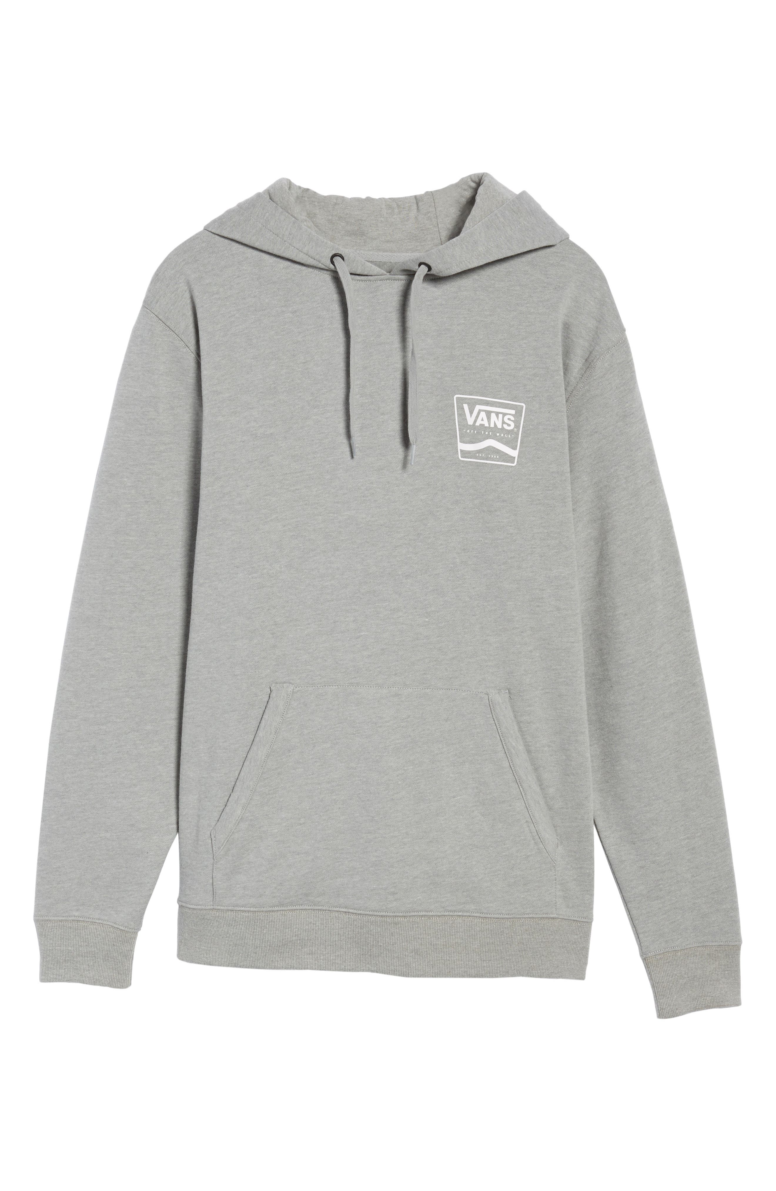 Side Striped II Hoodie,                             Alternate thumbnail 6, color,                             Cement Heather