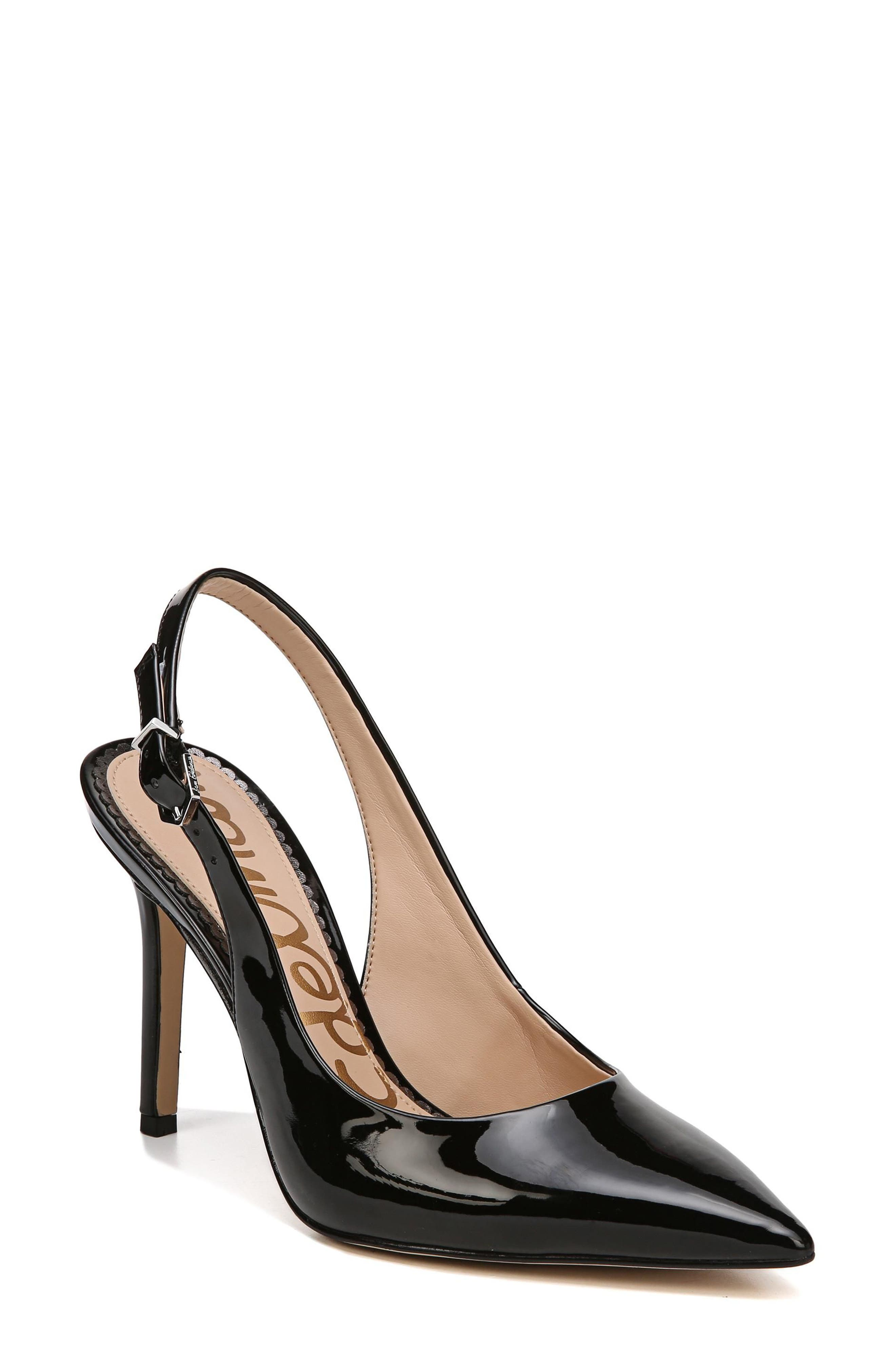 Hastings Slingback Pump,                         Main,                         color, Black Patent Leather