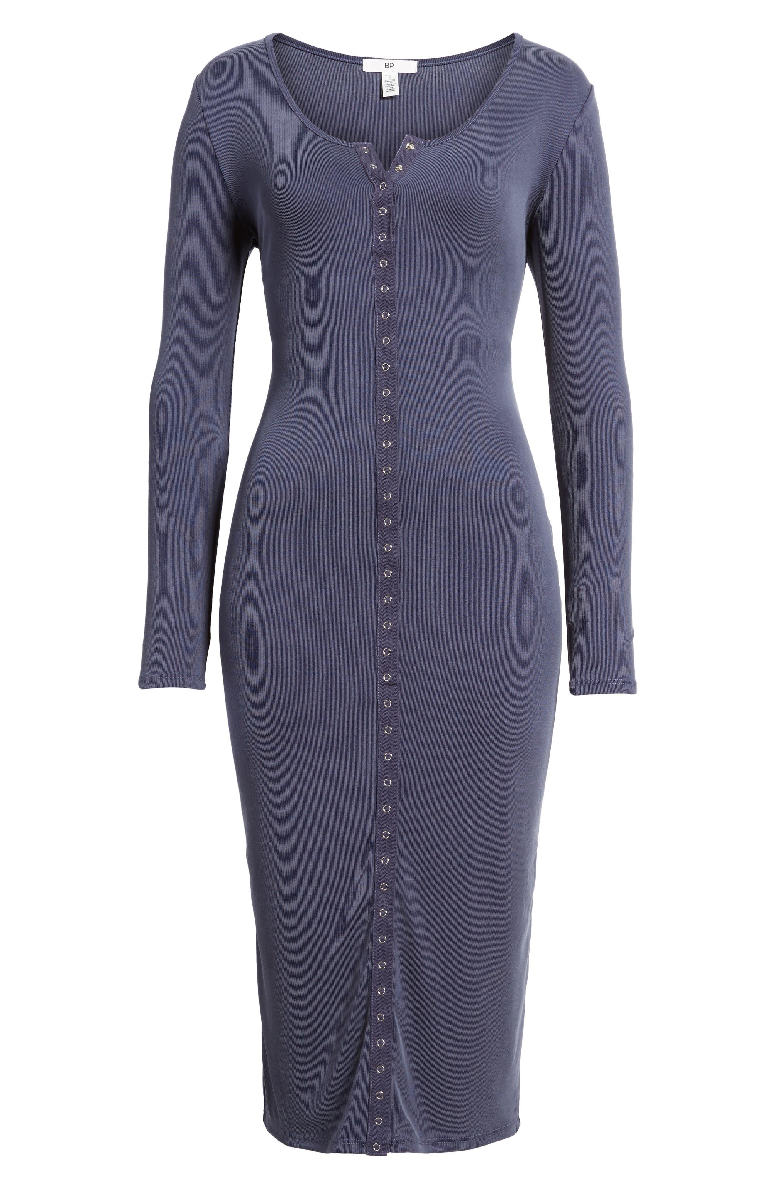 Alternate Image 6  - BP. Snap Front Henley Dress