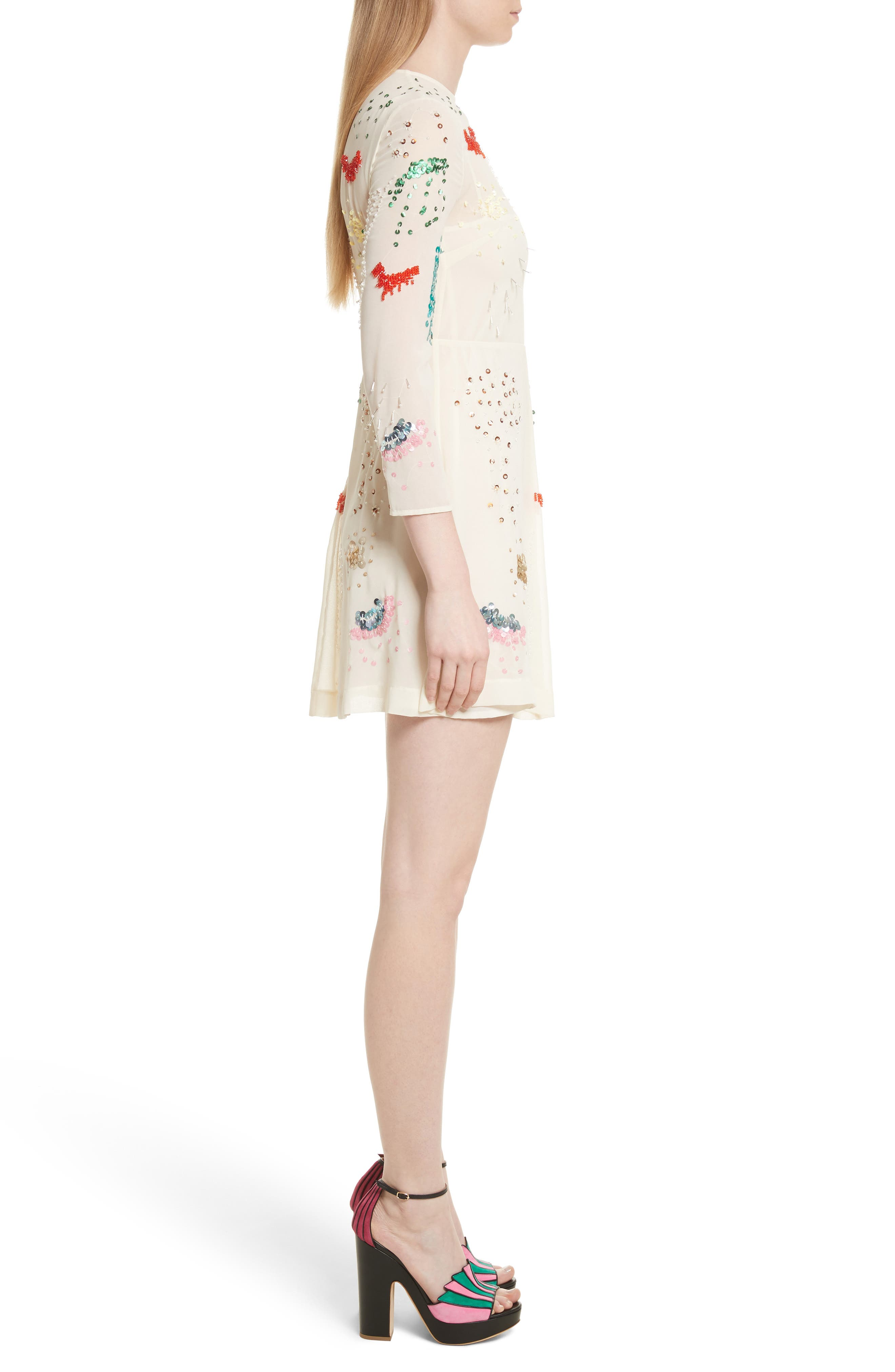 Alternate Image 3  - RED Valentino Embellished Georgette Minidress