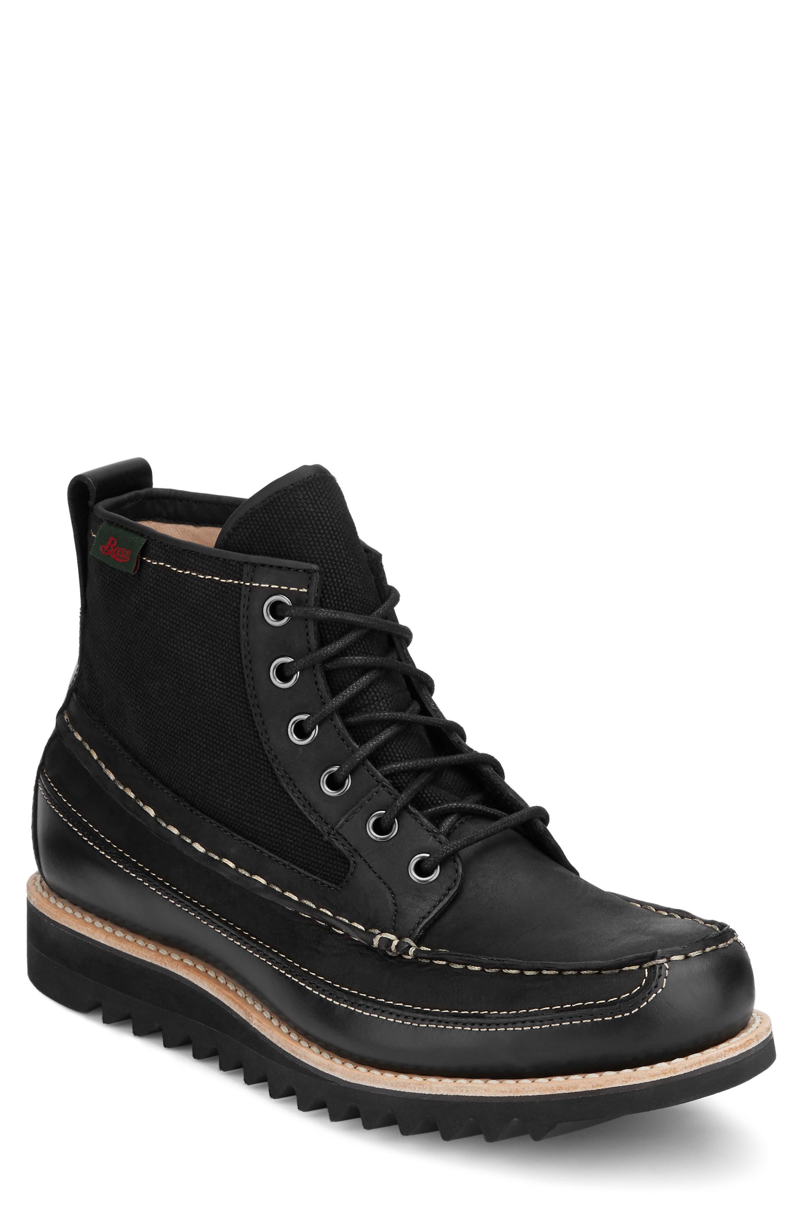 Nickson Razor Moc Toe Boot,                             Main thumbnail 1, color,                             Black