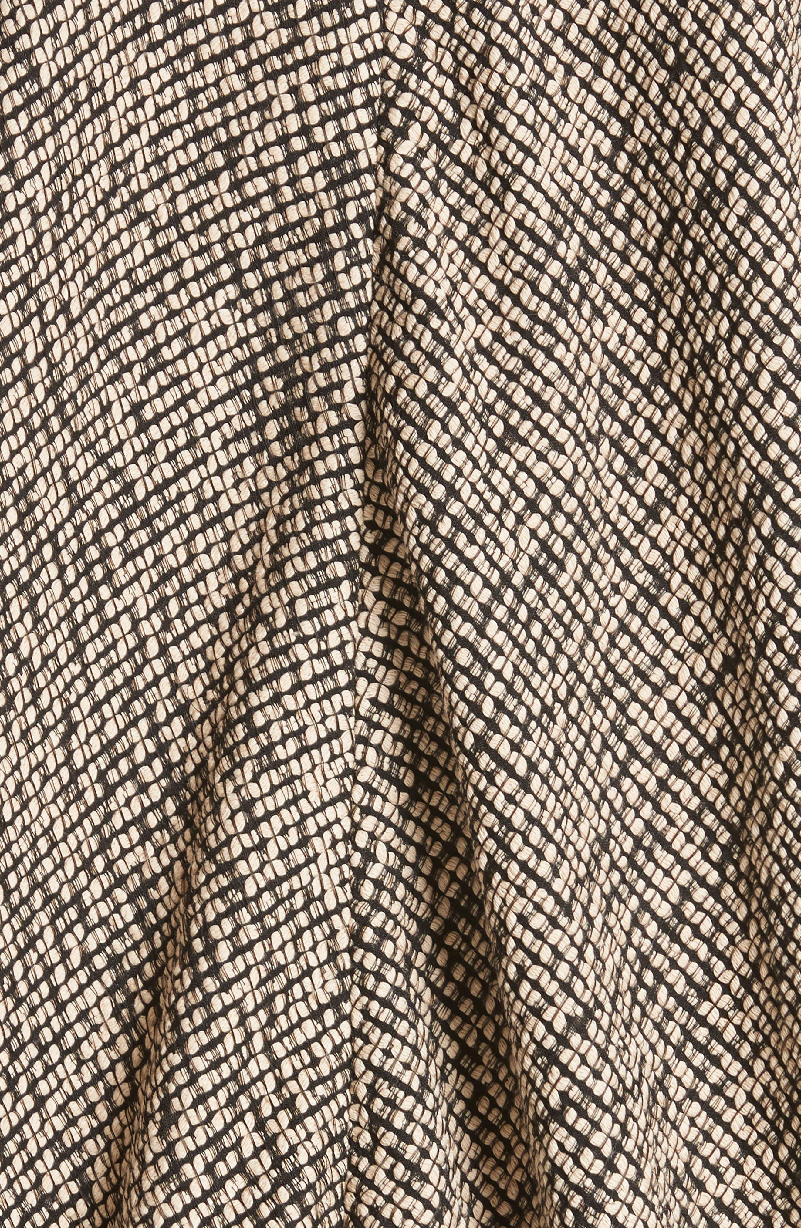 Open Weave Sweater,                             Alternate thumbnail 5, color,                             Black/Greige