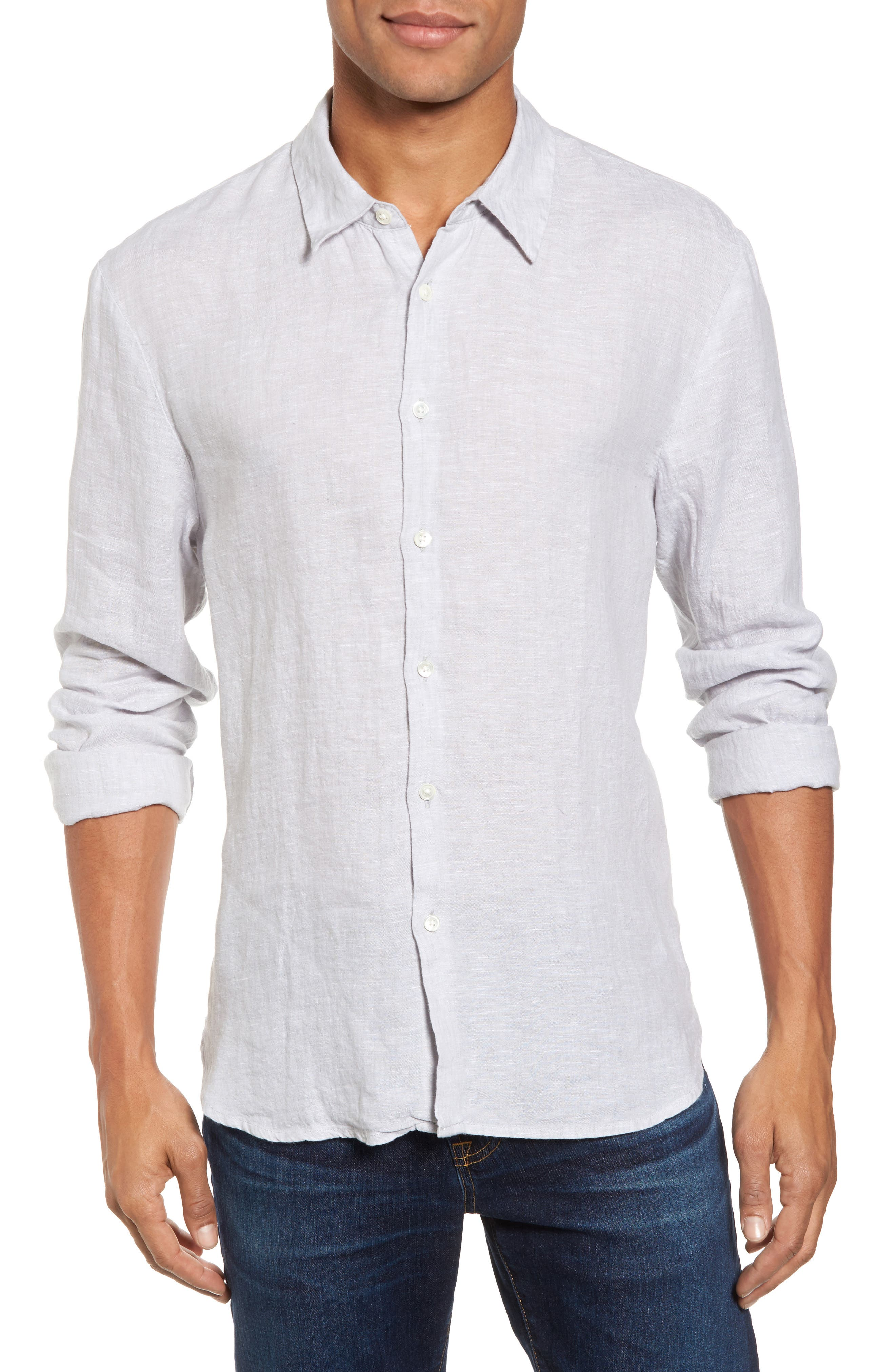James Perse Slim Fit Linen Sport Shirt