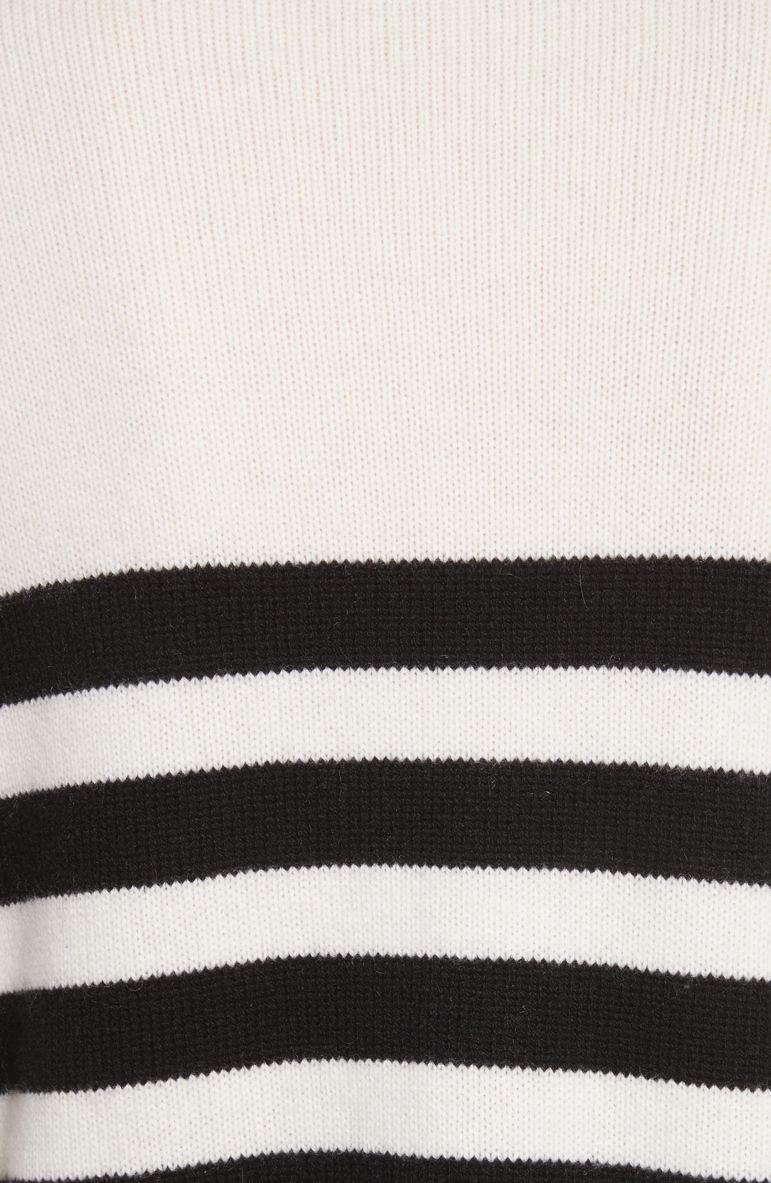 Lantz Mariner Sweater,                             Alternate thumbnail 5, color,                             Porcelain/ Caviar
