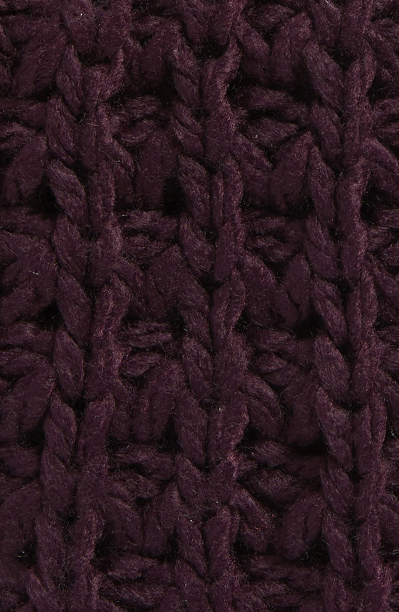 Chunky Tuck Gloves,                             Alternate thumbnail 2, color,                             Deep Eggplant
