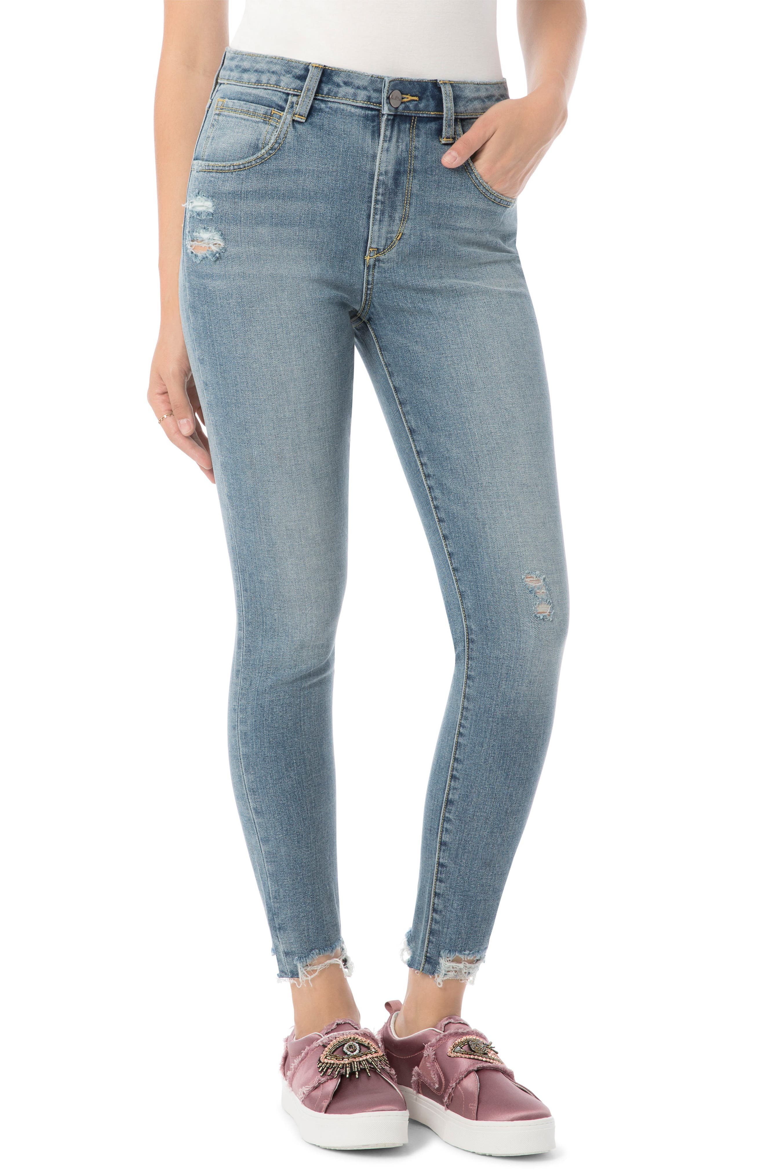 The Stilletto Skinny High-Waist Jeans,                         Main,                         color, Ainsley