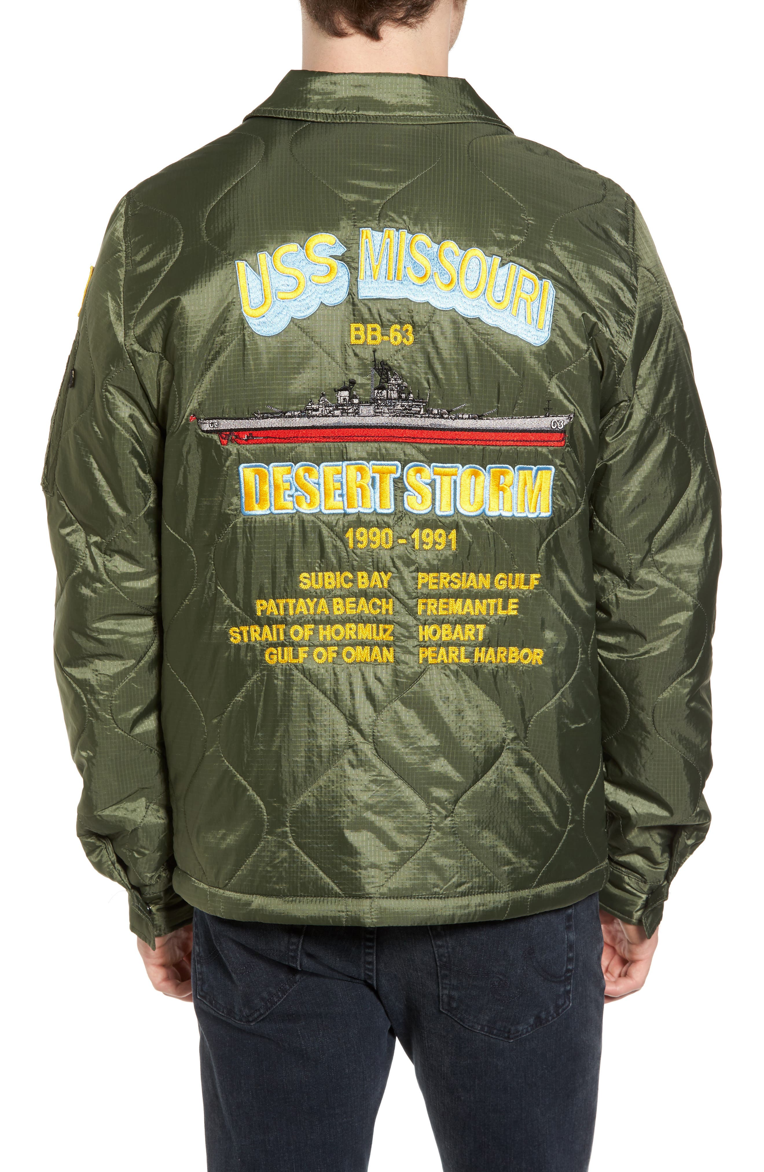 Quilted Storm Cruiser Jacket,                             Alternate thumbnail 2, color,                             Sage